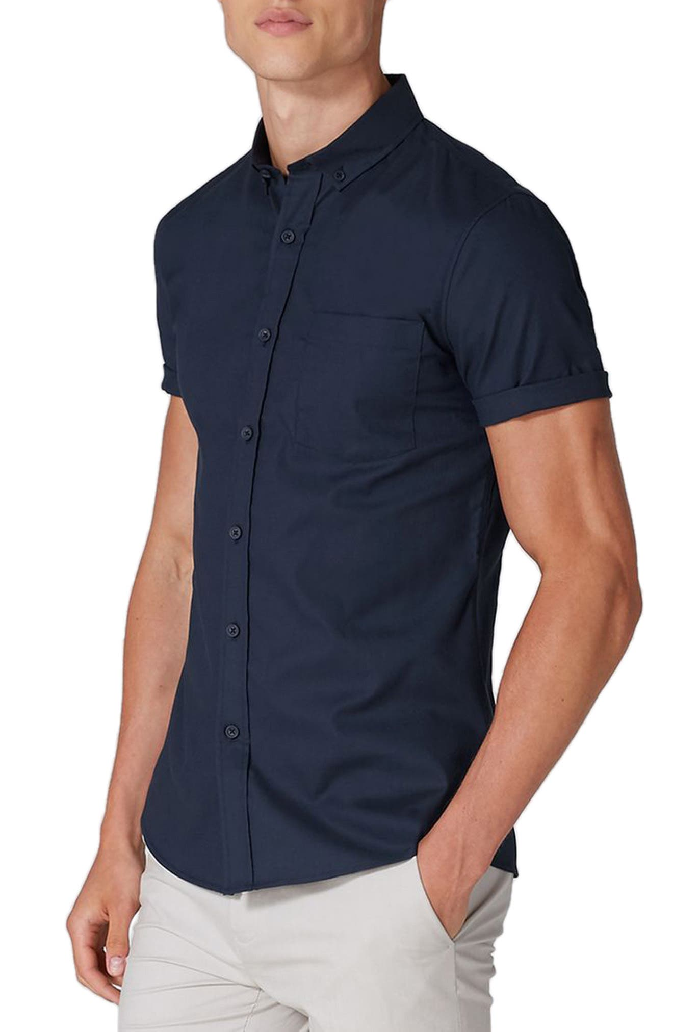 Muscle Fit Woven Shirt,                             Main thumbnail 1, color,                             410