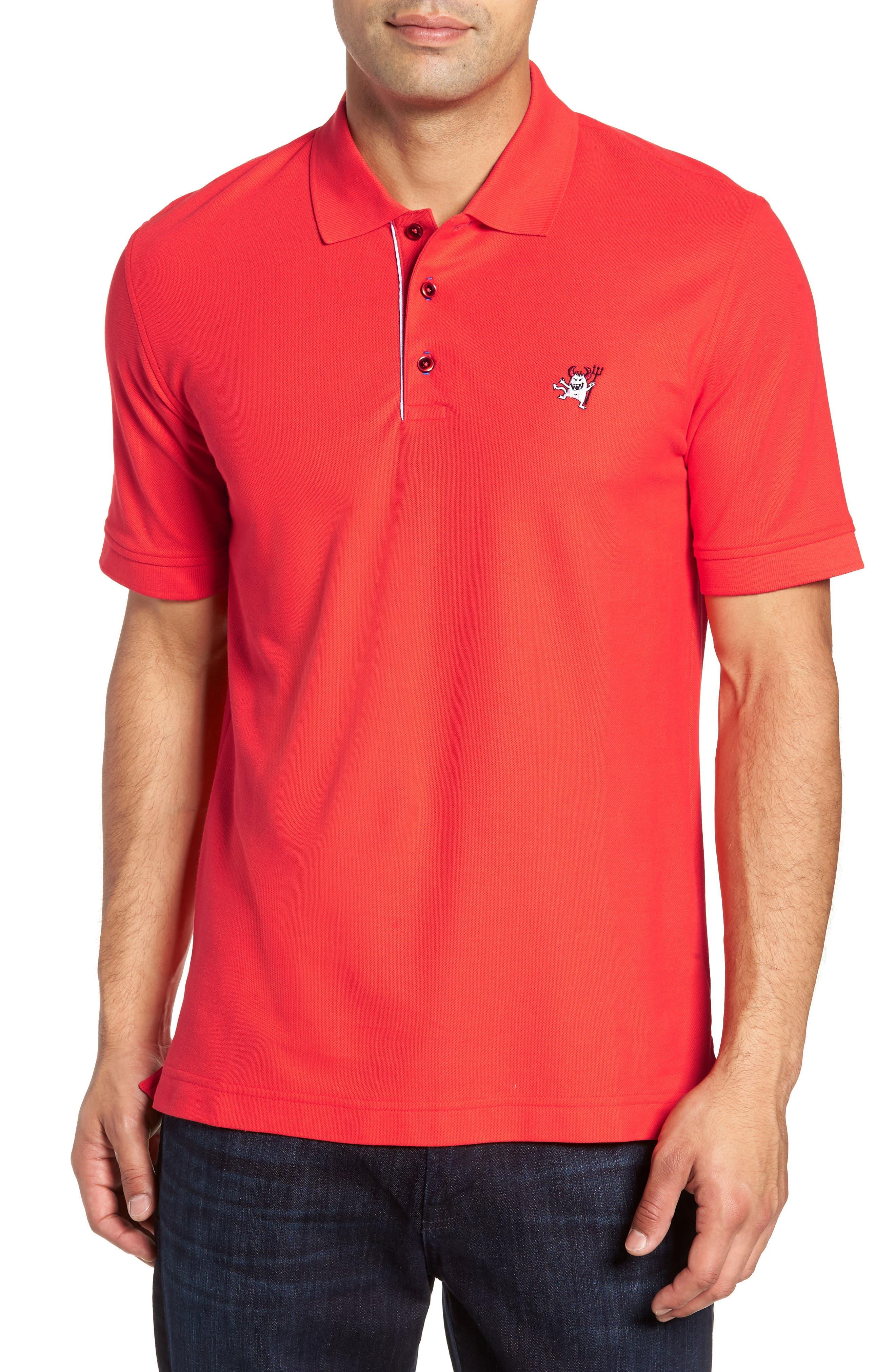Devil Piqué Polo,                         Main,                         color, RED