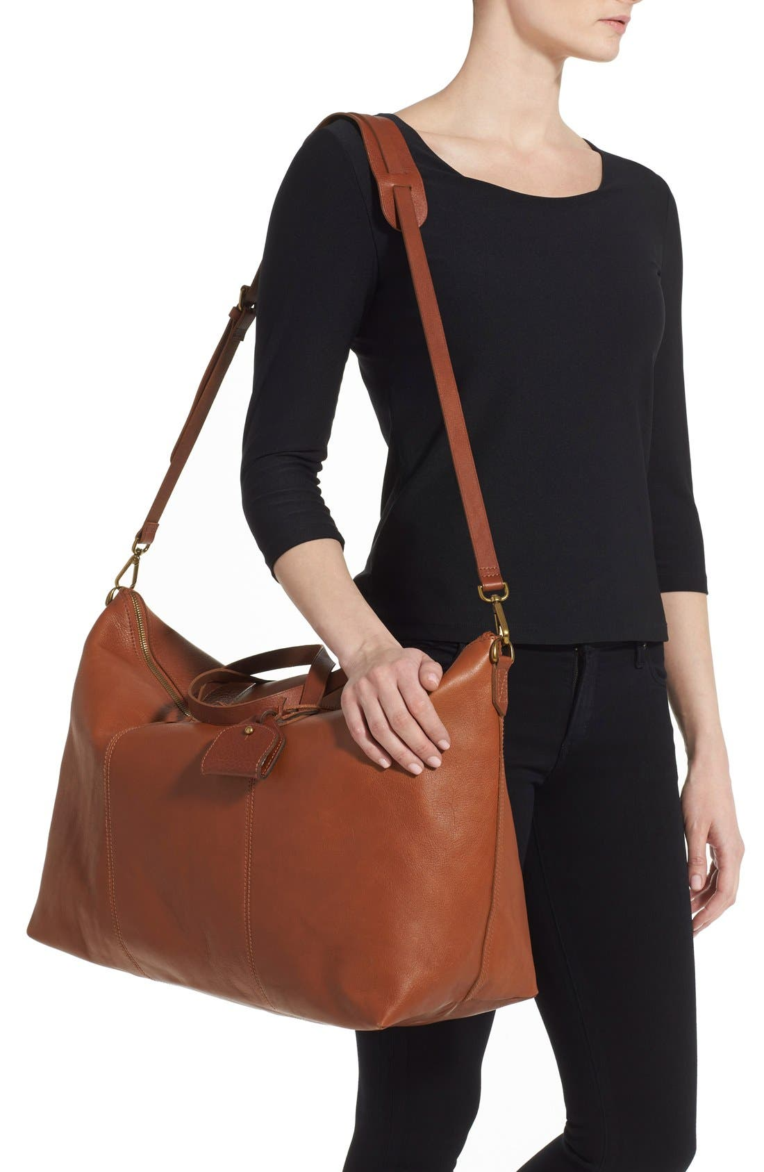 'Transport' Weekend Bag,                             Alternate thumbnail 2, color,                             ENGLISH SADDLE