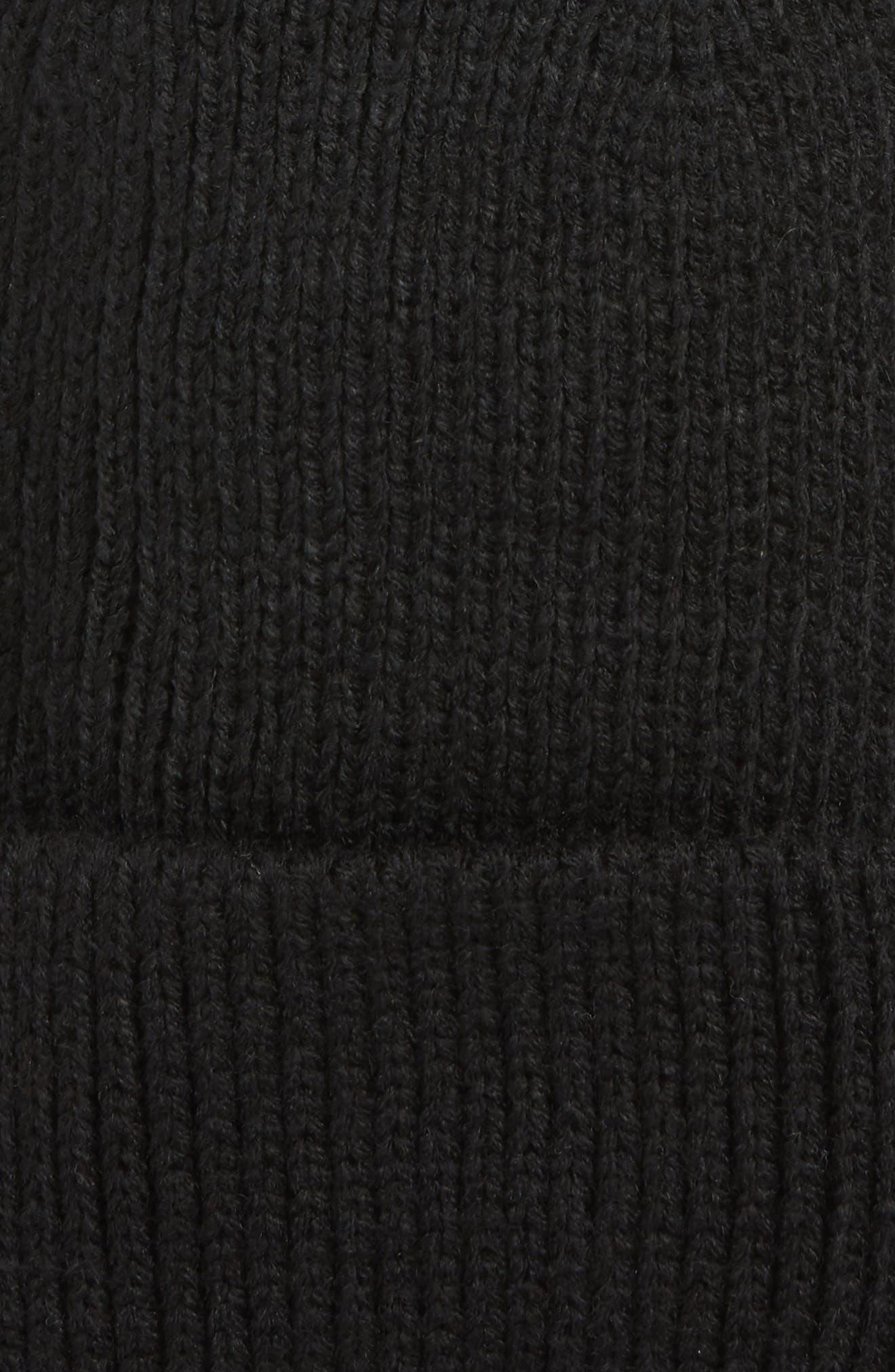 Cuff Beanie,                             Alternate thumbnail 2, color,                             BLACK