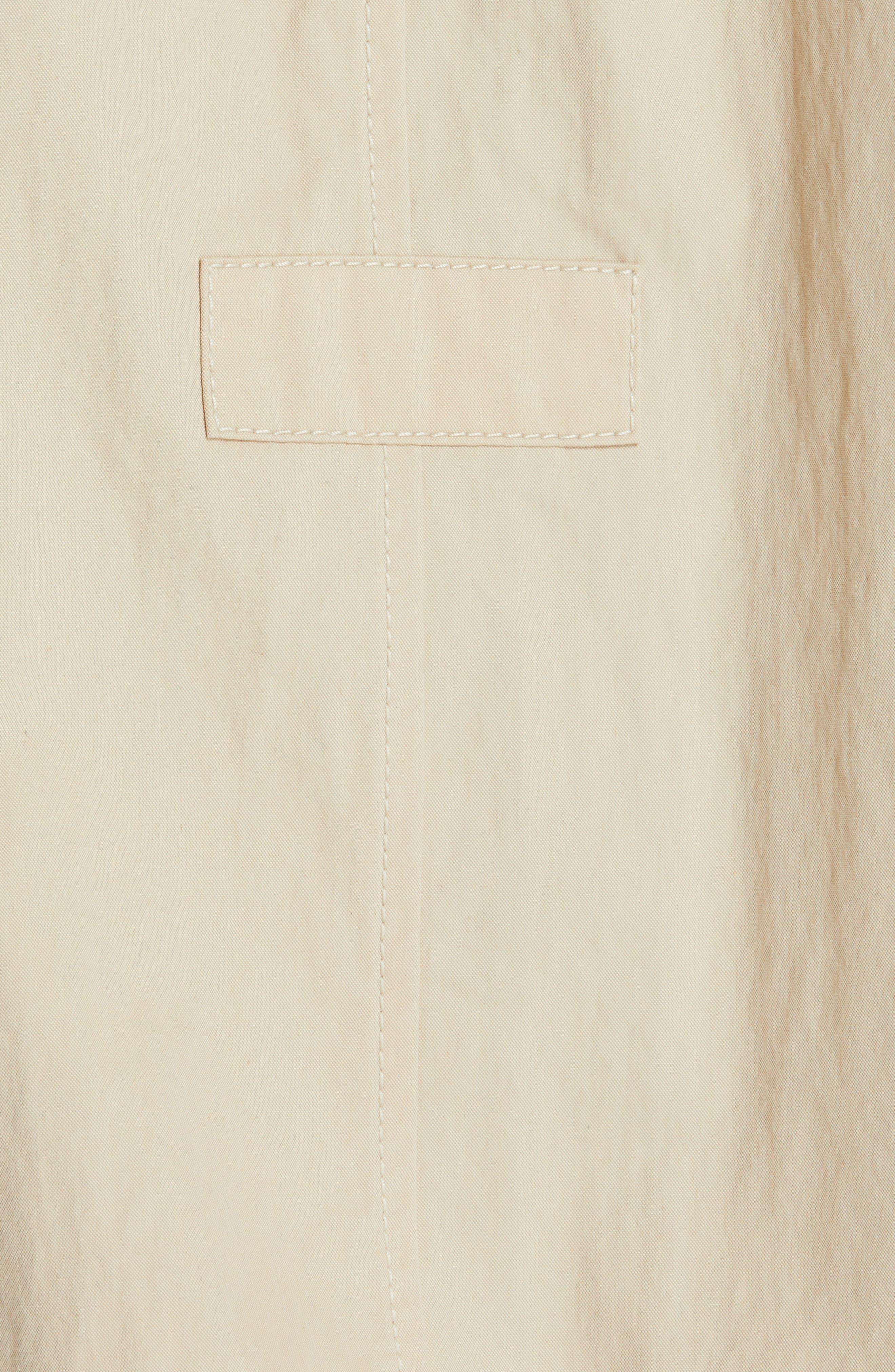 Cotton & Nylon Hooded Anorak,                             Alternate thumbnail 5, color,                             BUTTERMILK