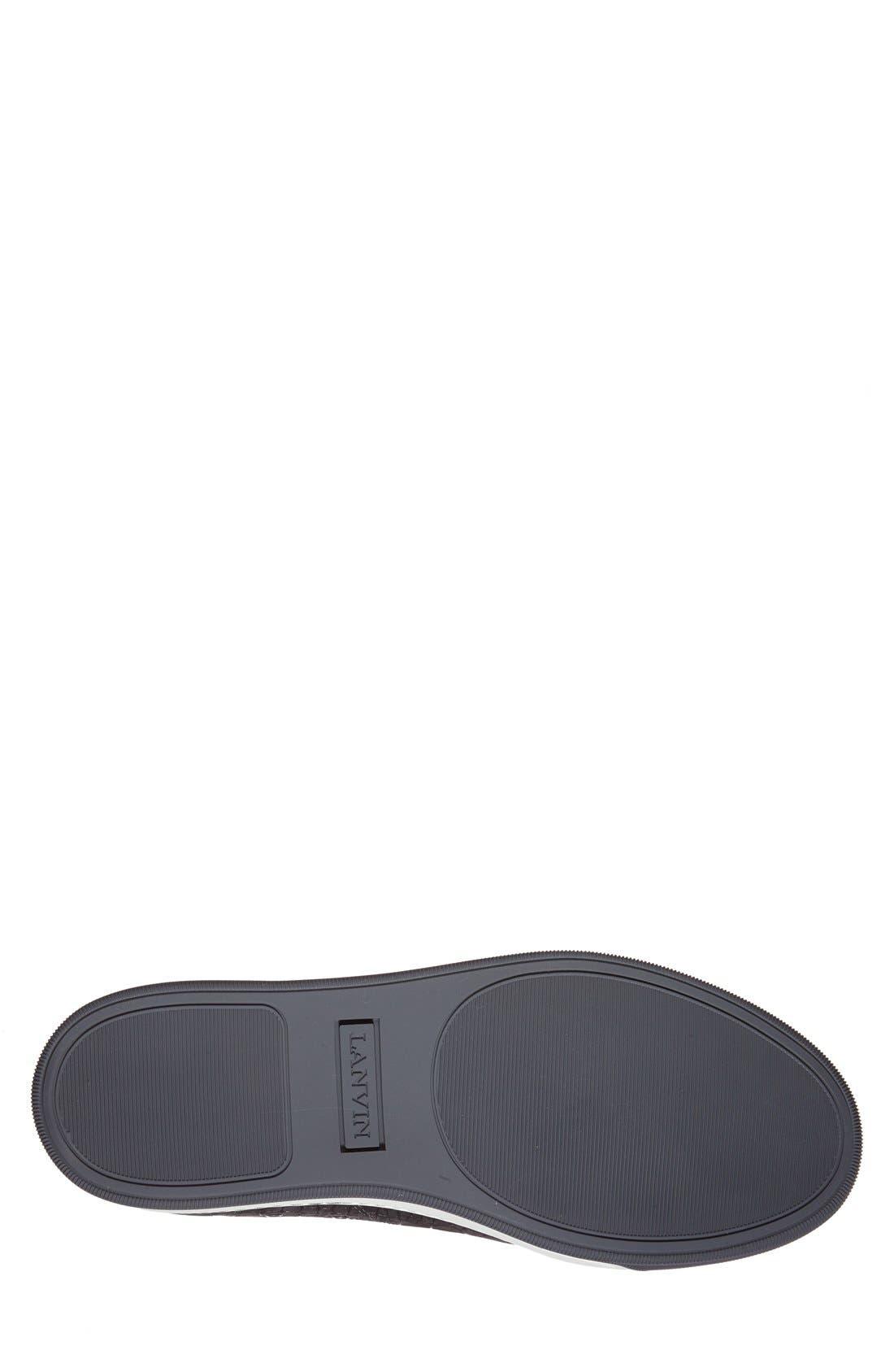 Embossed Nubuck Low Top Sneaker,                             Alternate thumbnail 4, color,                             024