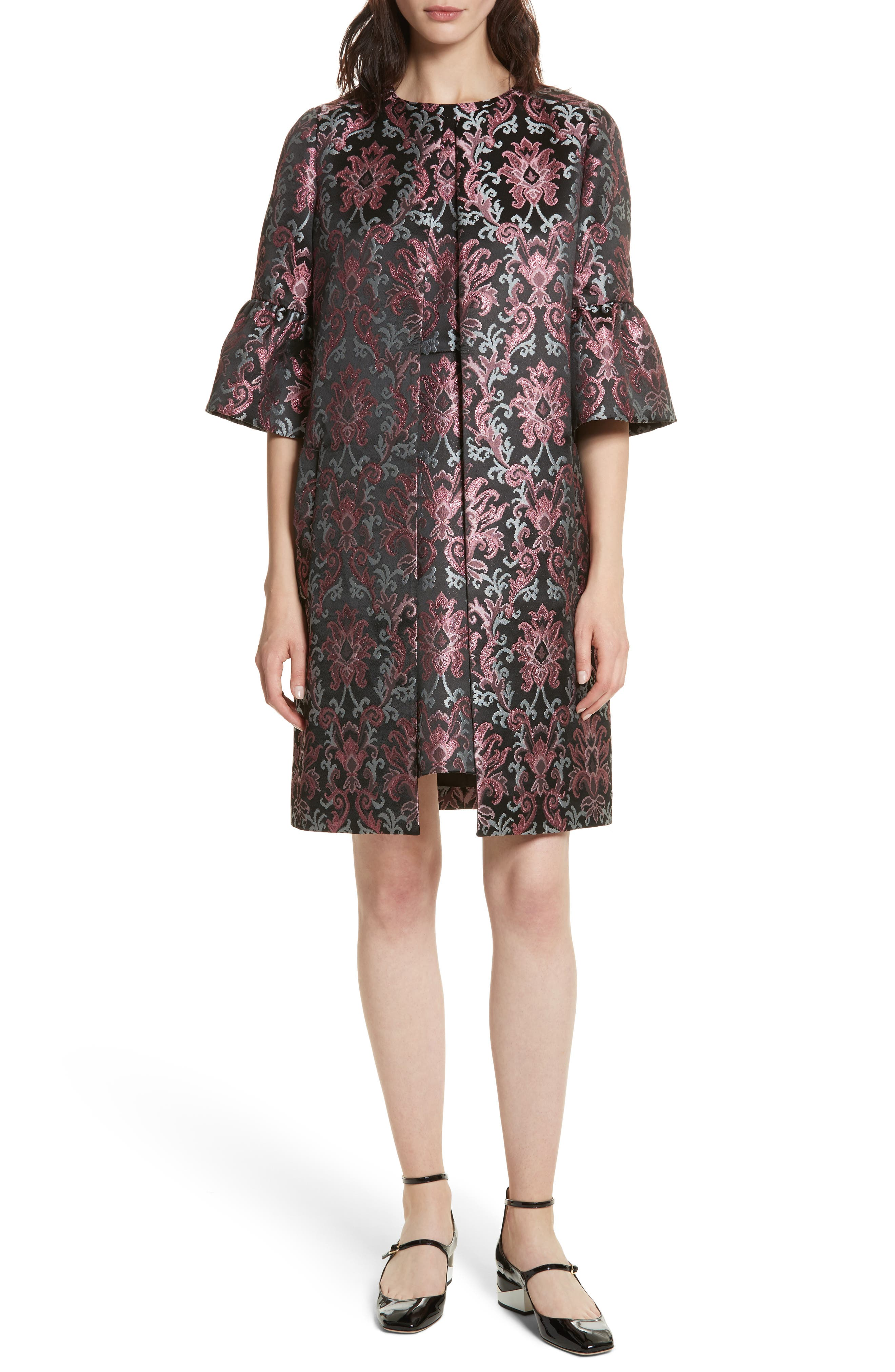 tapestry jacquard coat,                             Alternate thumbnail 7, color,                             004