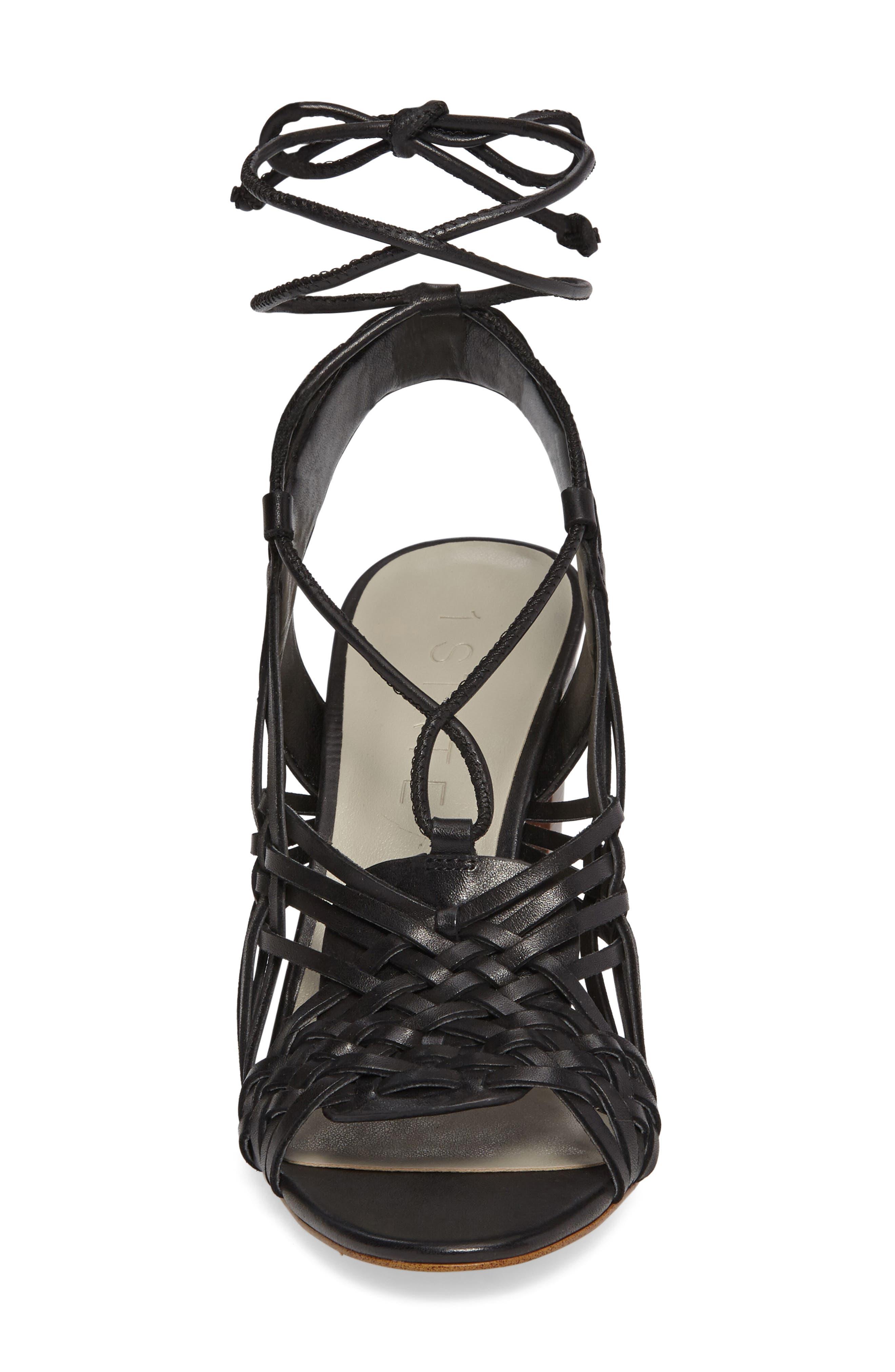 Shannen Block Heel Sandal,                             Alternate thumbnail 3, color,                             001
