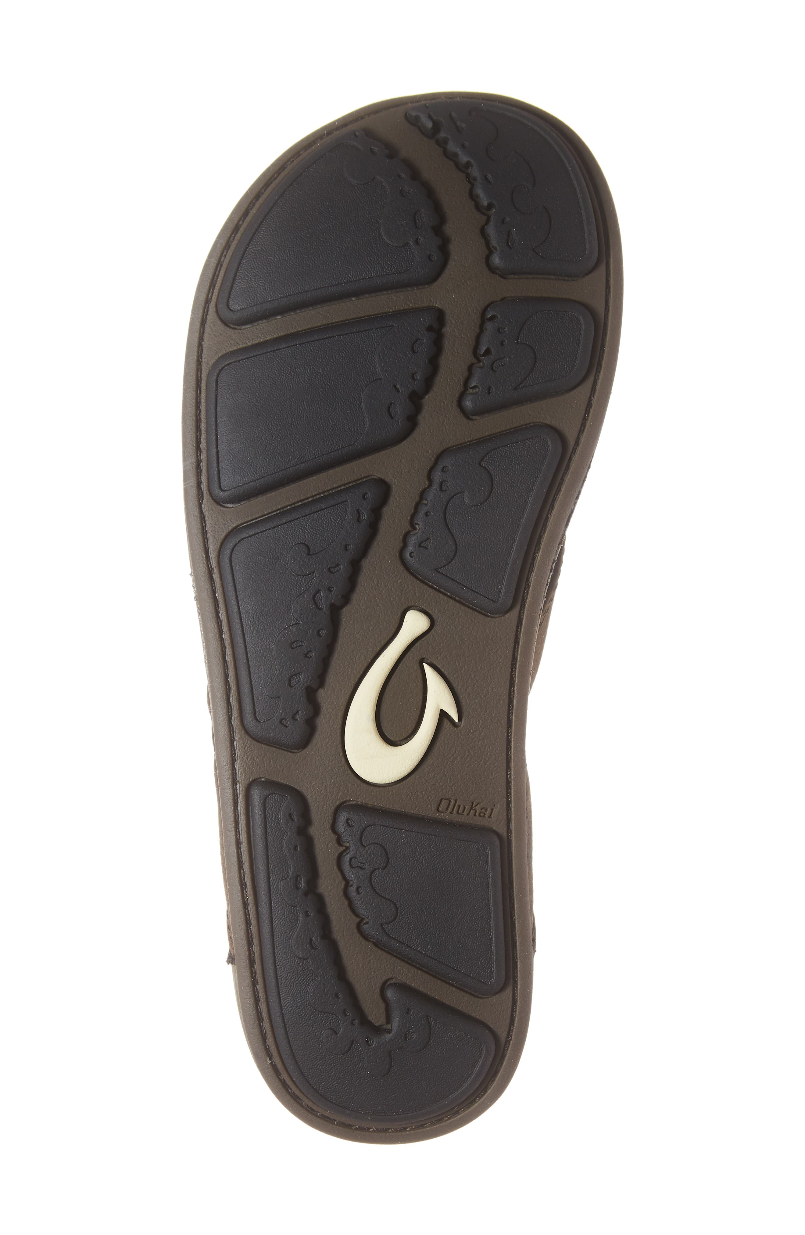 'Nui' Leather Flip Flop,                             Alternate thumbnail 6, color,                             ESPRESSO LEATHER