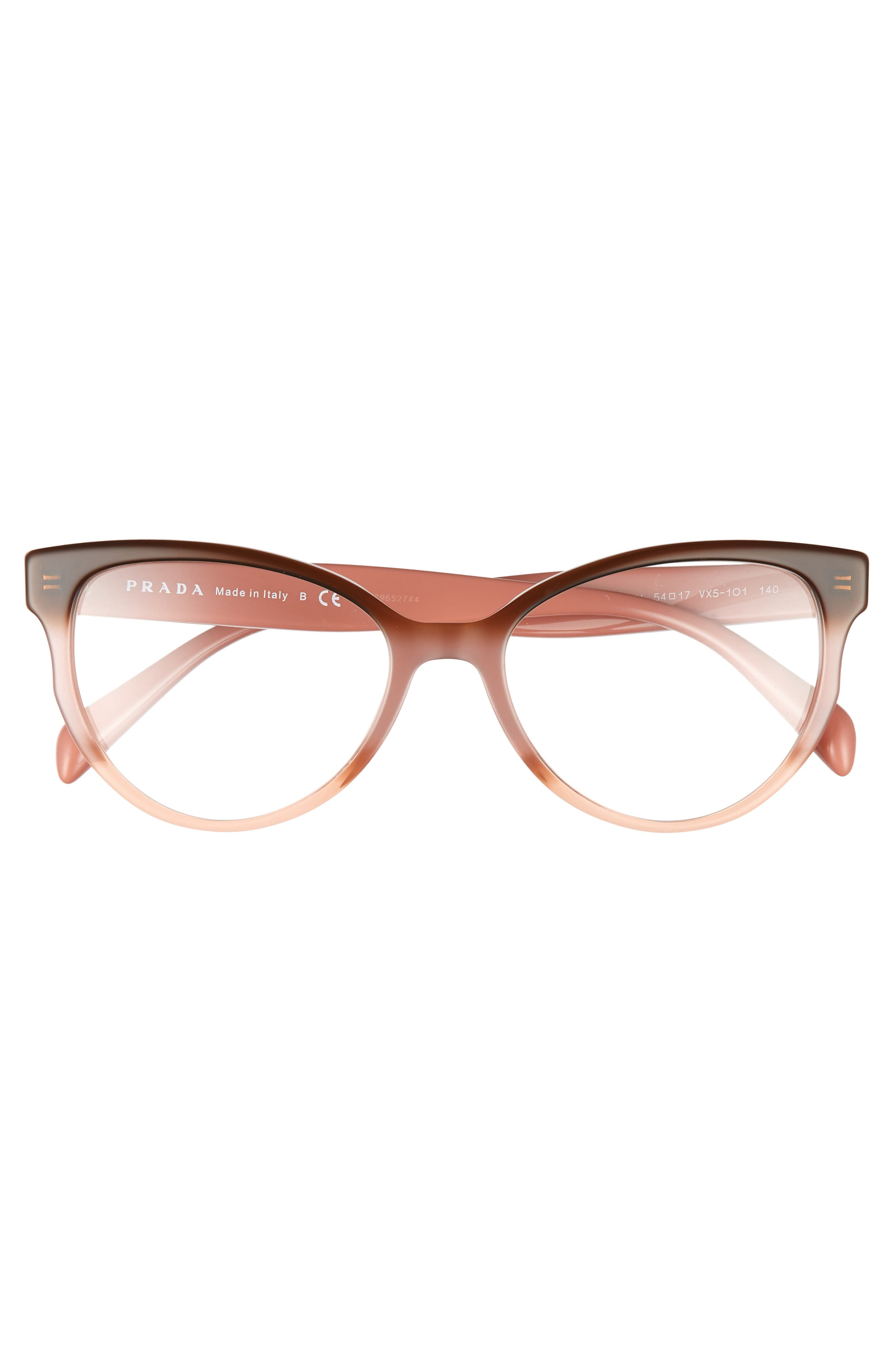 PRADA,                             54mm Cat Eye Optical Glasses,                             Alternate thumbnail 3, color,                             200