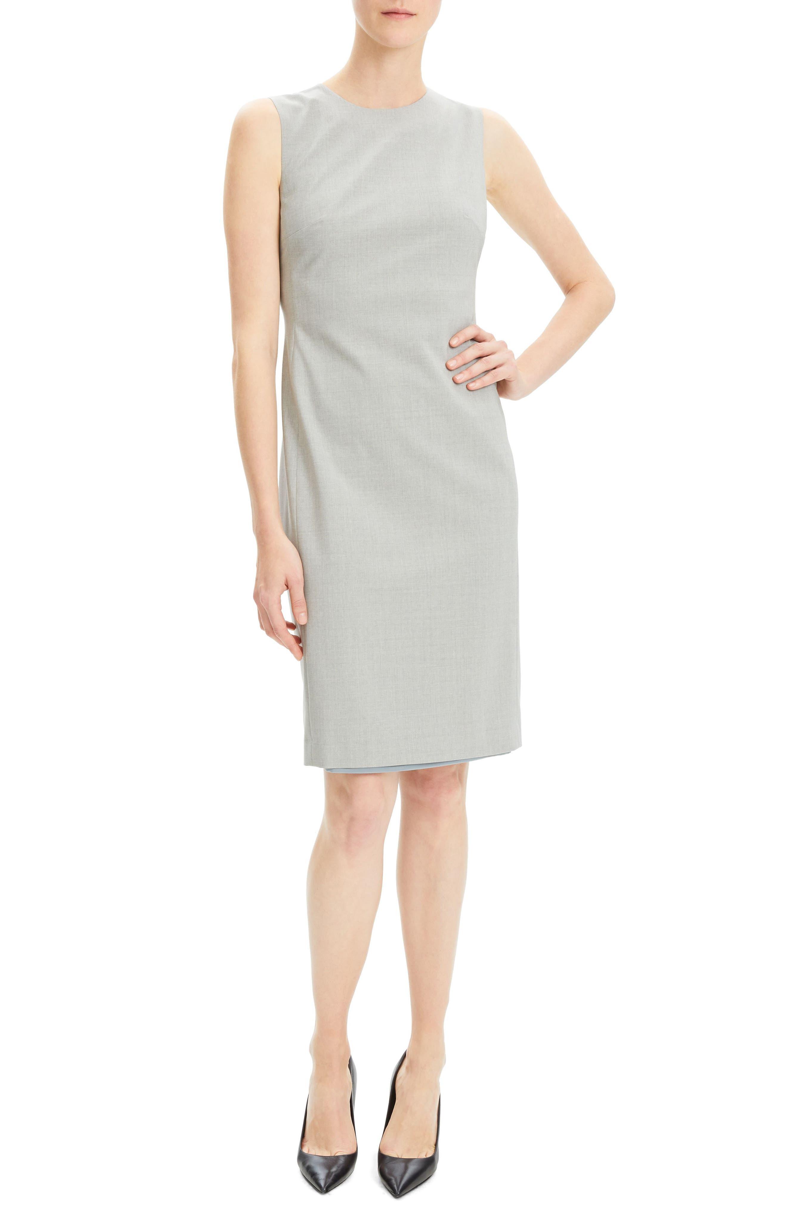 THEORY Eano Good Wool Sheath Dress, Main, color, 050