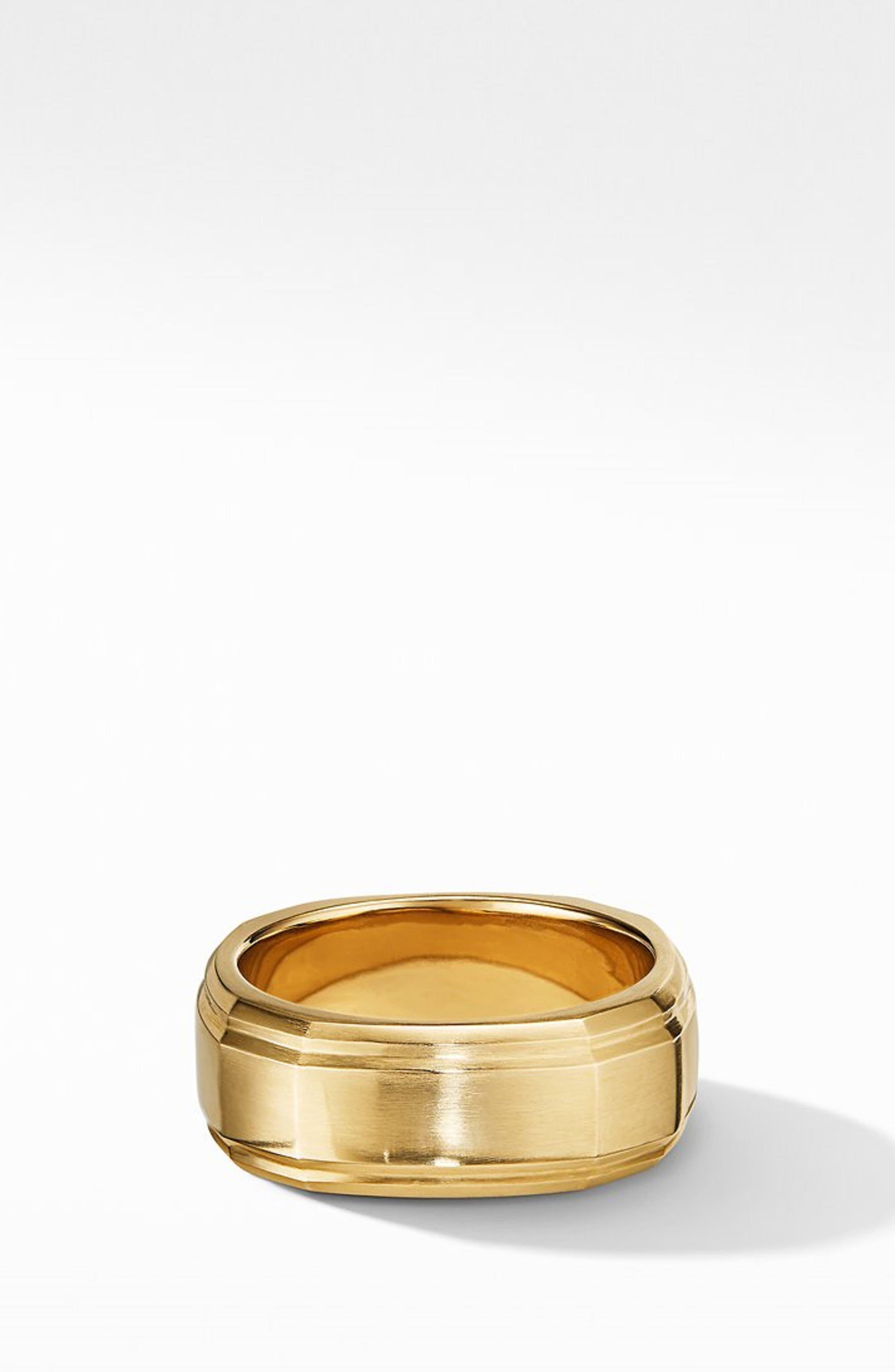 18K Gold Deco Band Ring,                             Alternate thumbnail 3, color,                             GOLD