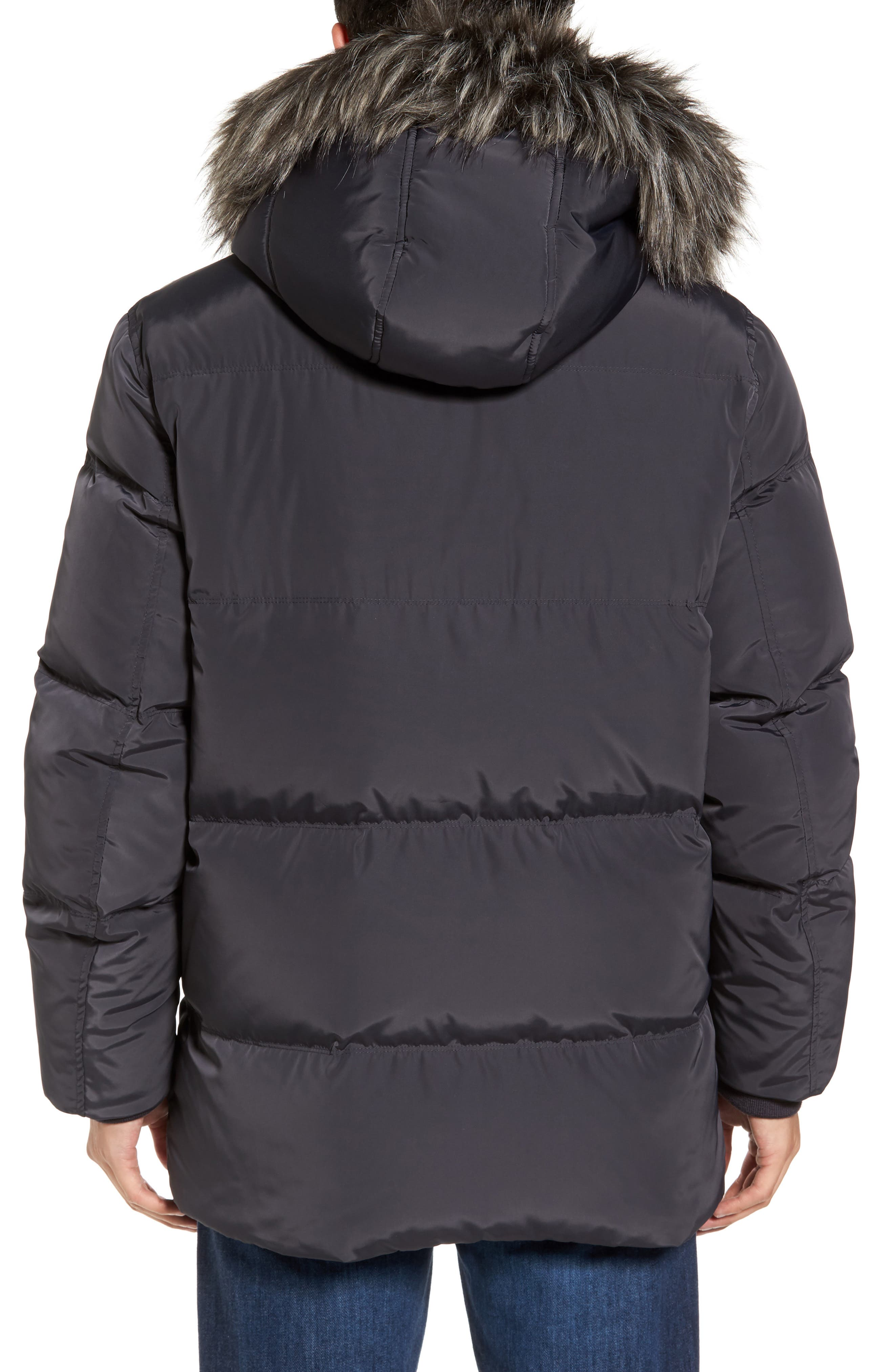 Quilted Down Parka with Faux Fur Trim,                             Alternate thumbnail 2, color,                             070