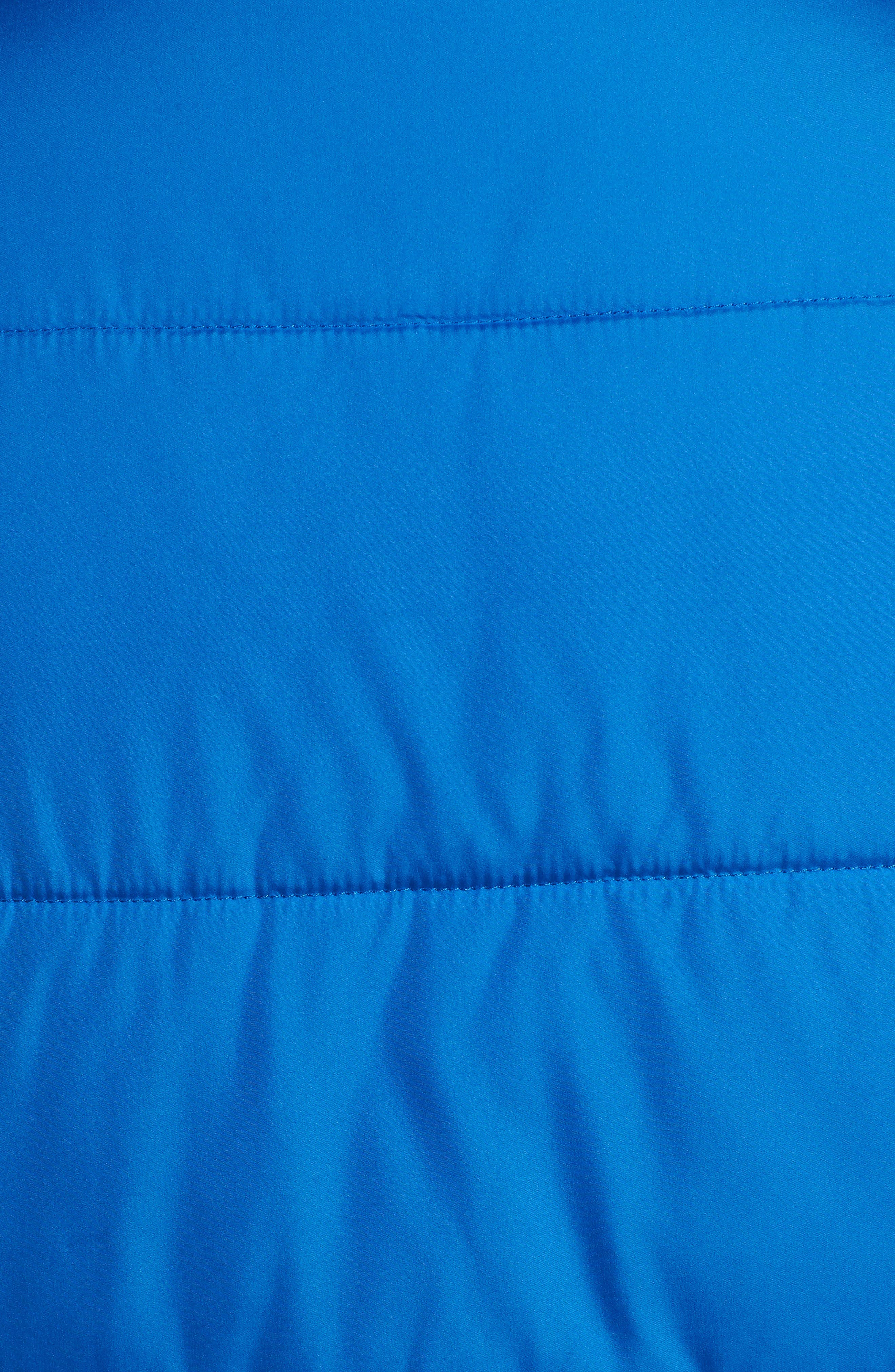 Crop Puffer Jacket,                             Alternate thumbnail 8, color,                             BLUE BOAT