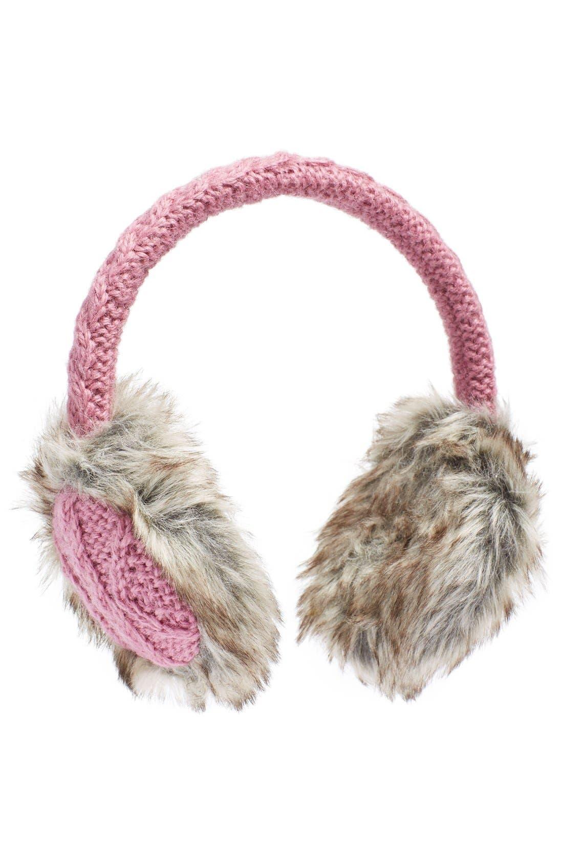 Cable Knit Earmuffs,                             Main thumbnail 5, color,