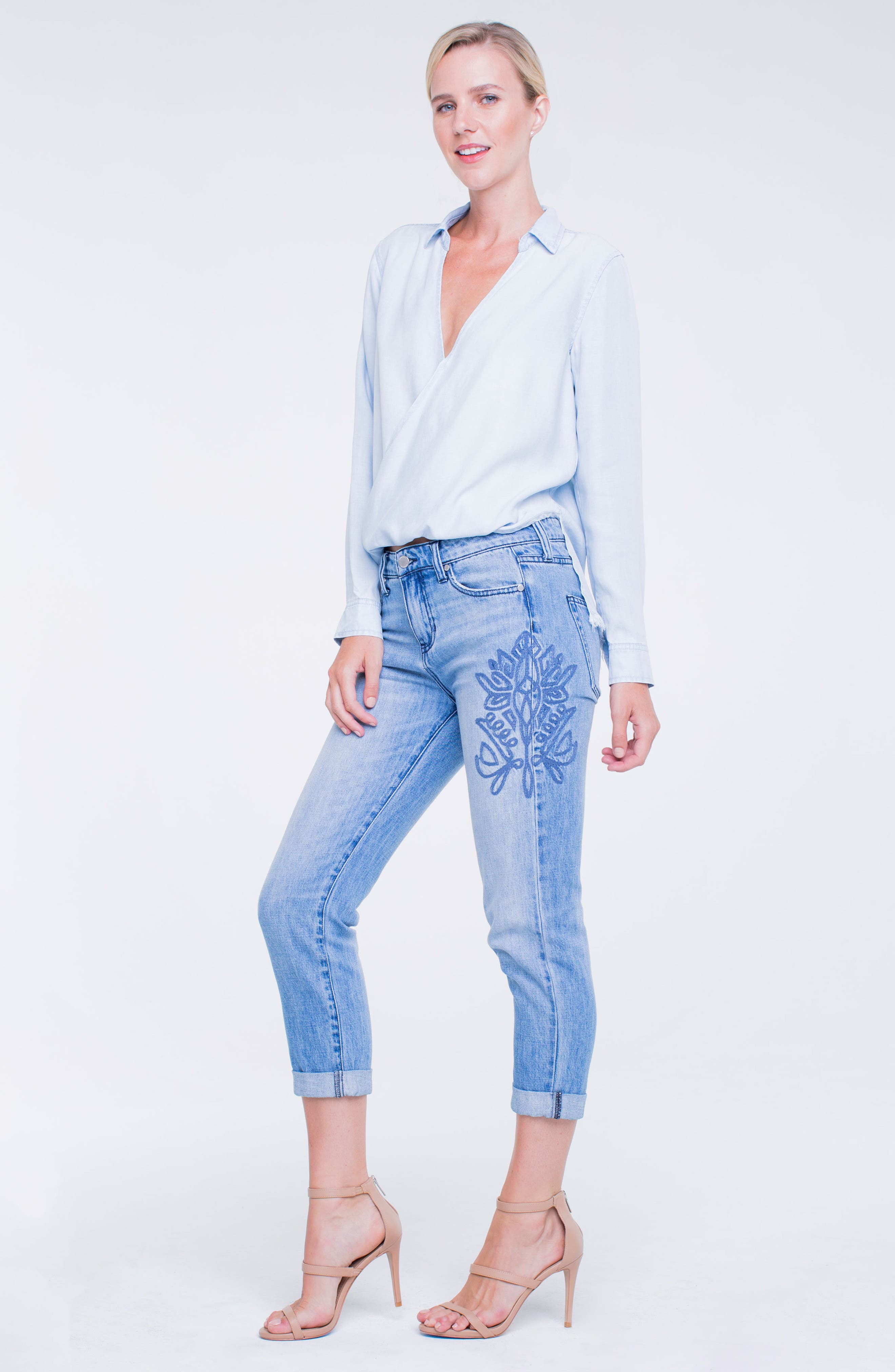 Cameron Embroidered Crop Boyfriend Jeans,                             Alternate thumbnail 6, color,                             404