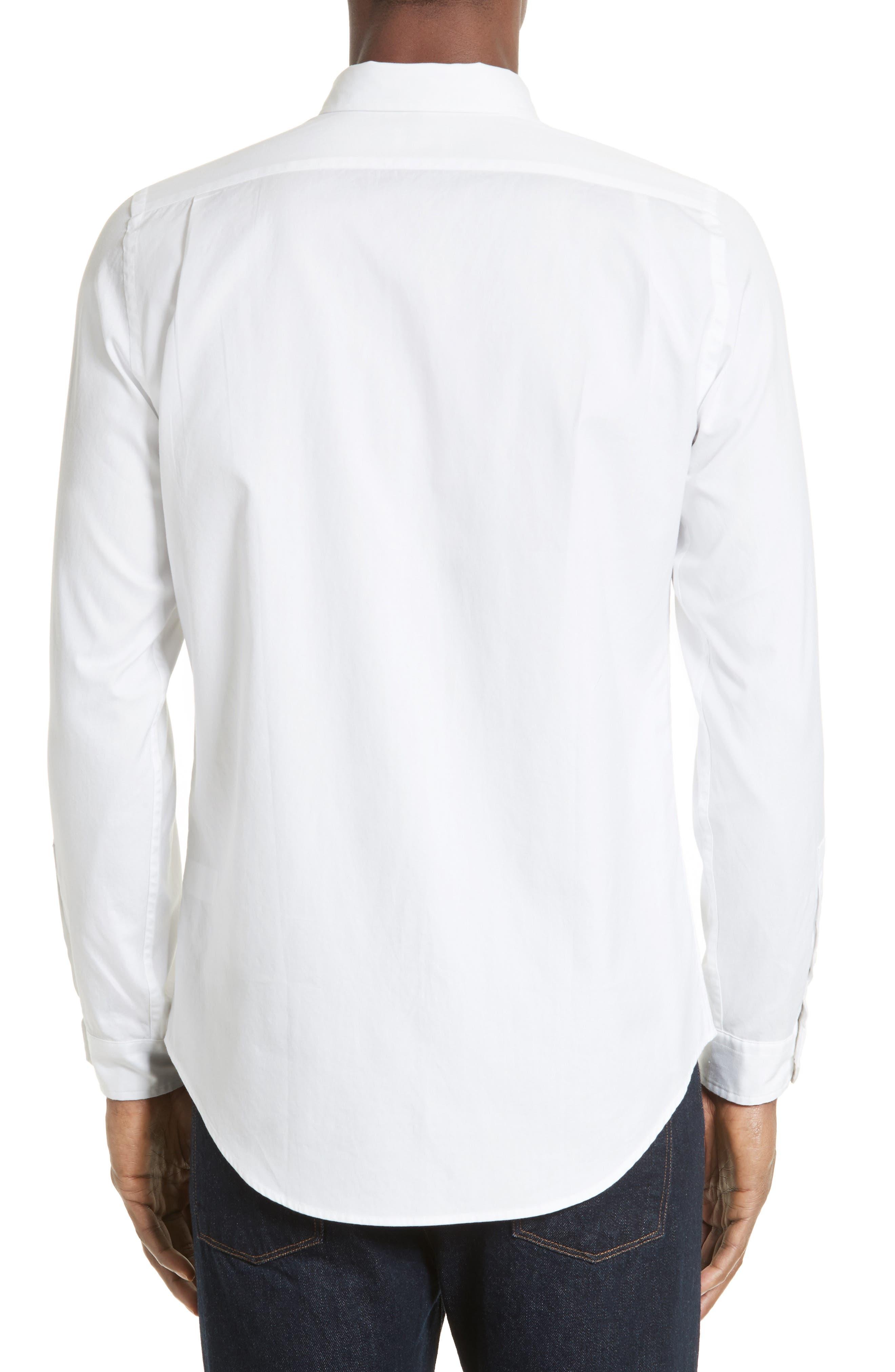 Extra Trim Fit Multi Tab Sport Shirt,                             Alternate thumbnail 3, color,                             100