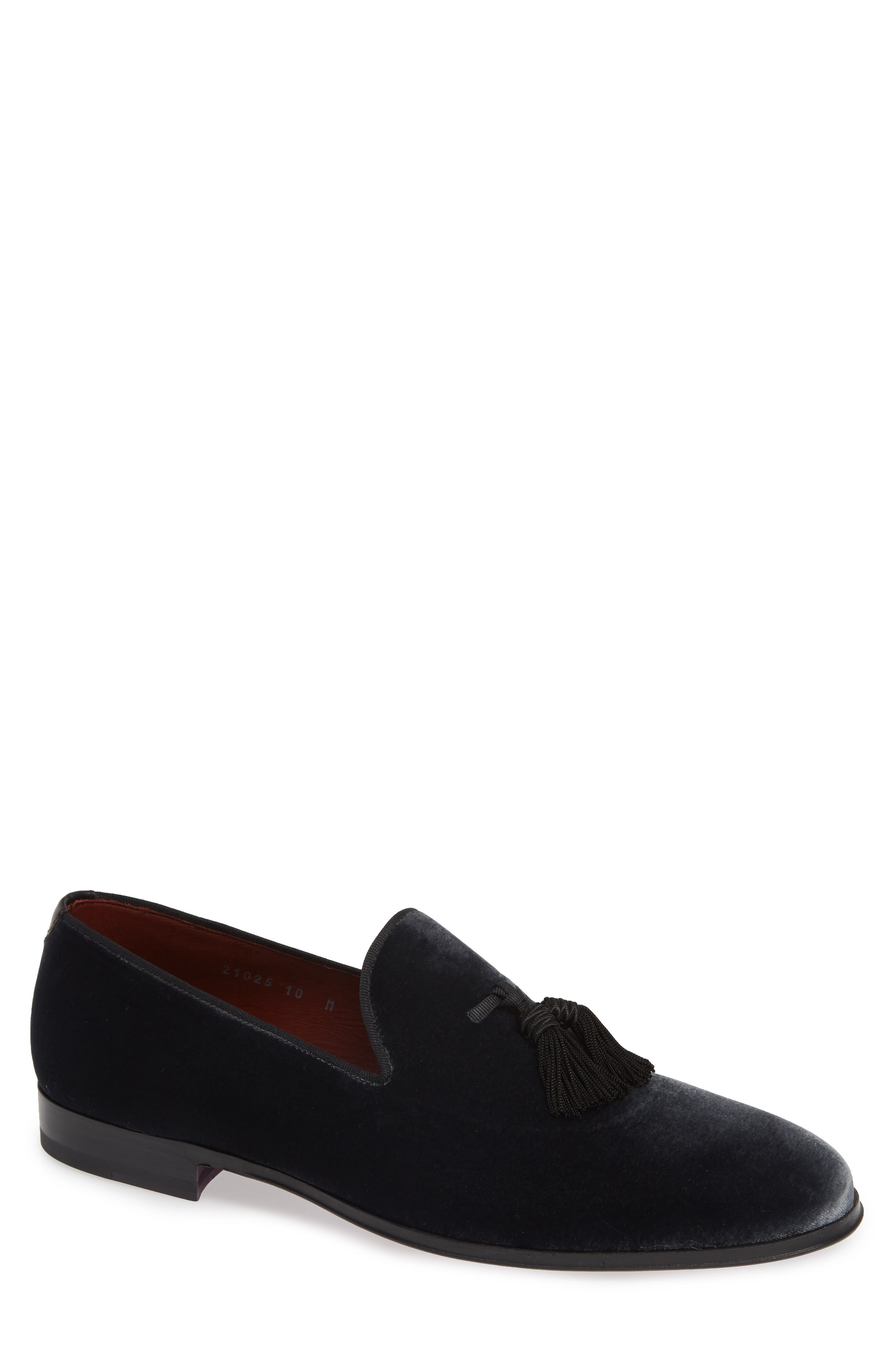 Donzel Tassel Loafer,                             Main thumbnail 1, color,                             GREY LEATHER