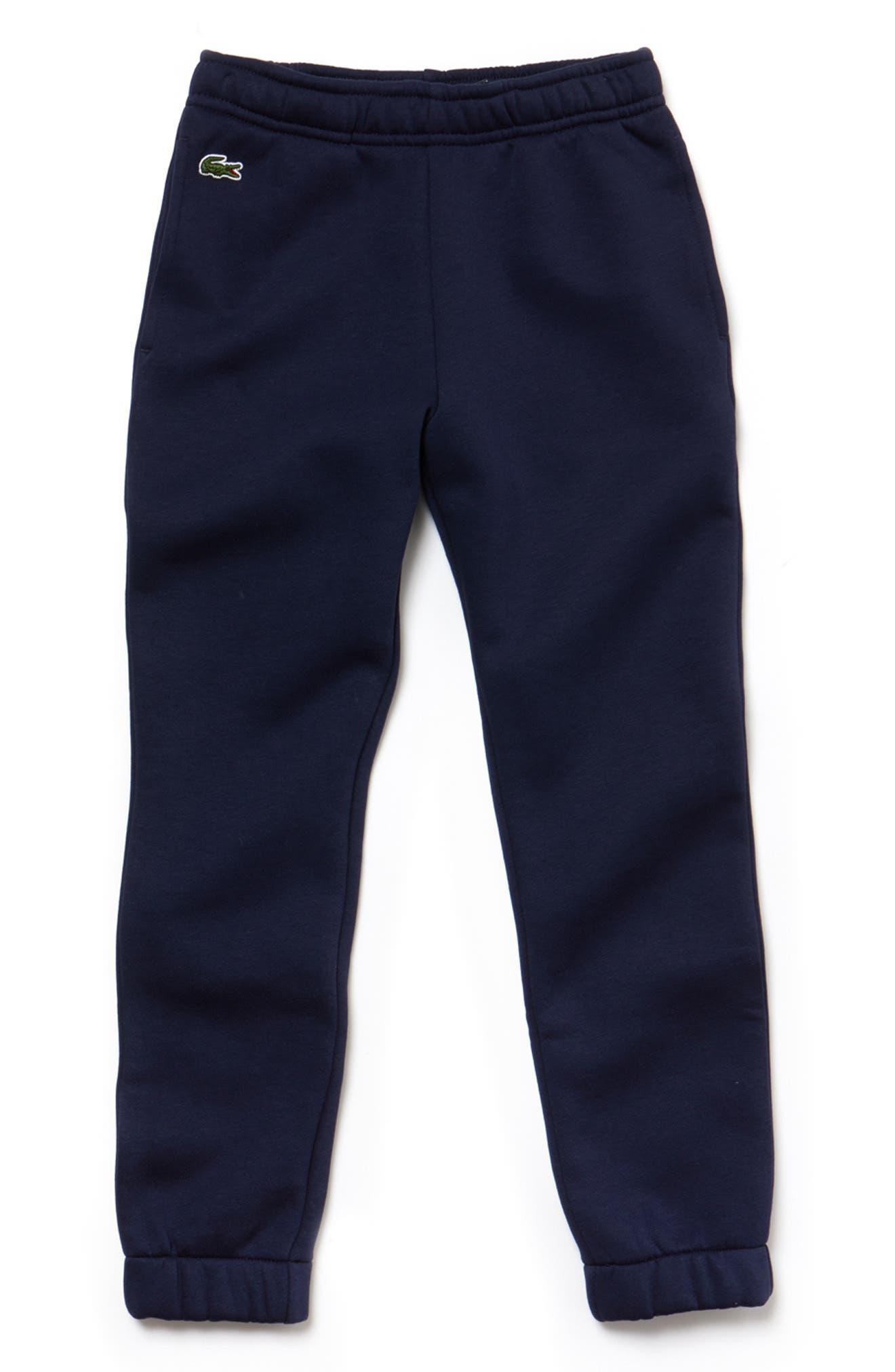 Boys Lacoste Fleece Pants Size 16Y  Blue