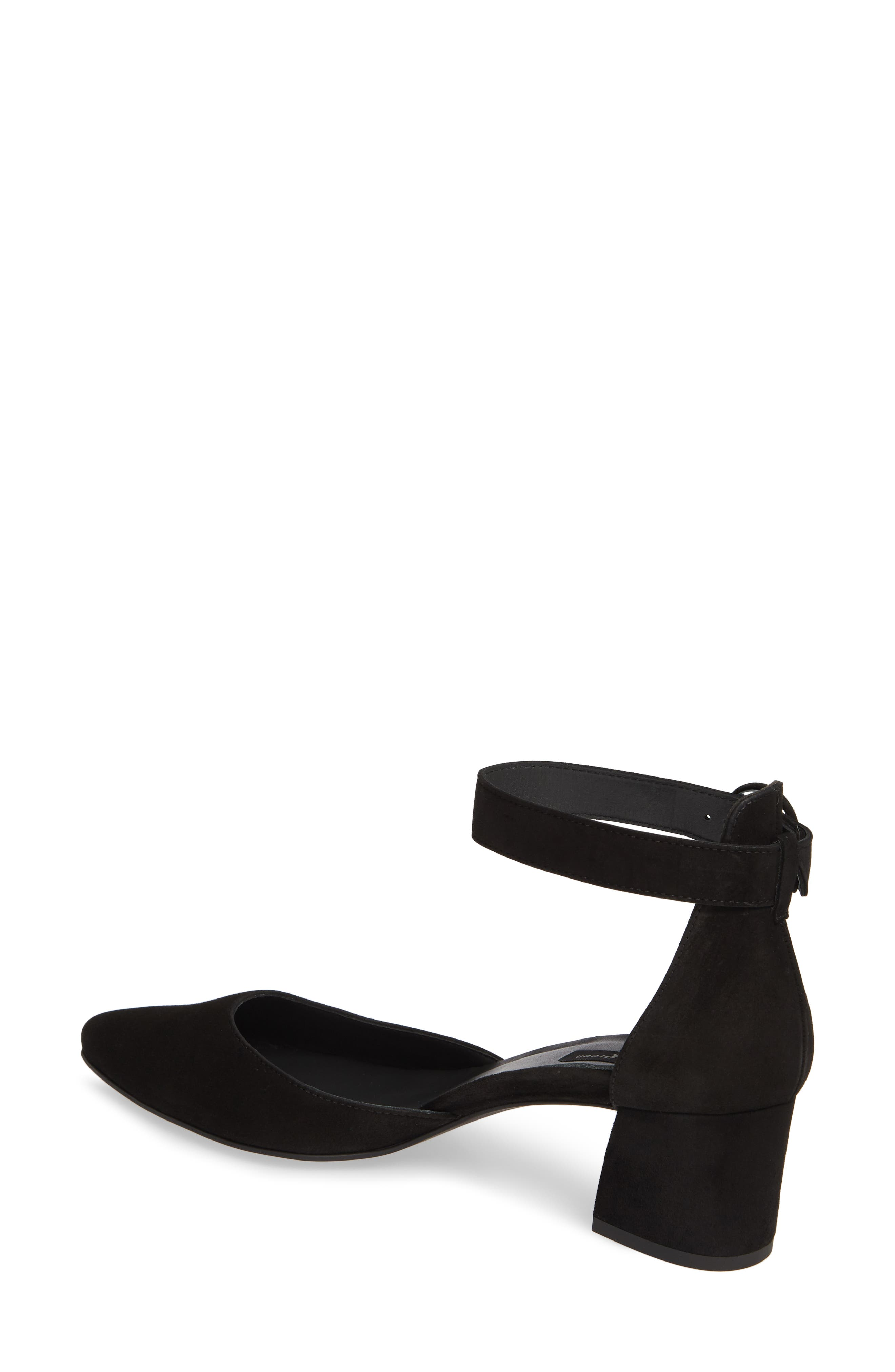 PAUL GREEN,                             Annie Ankle Strap Pump,                             Alternate thumbnail 2, color,                             BLACK SUEDE