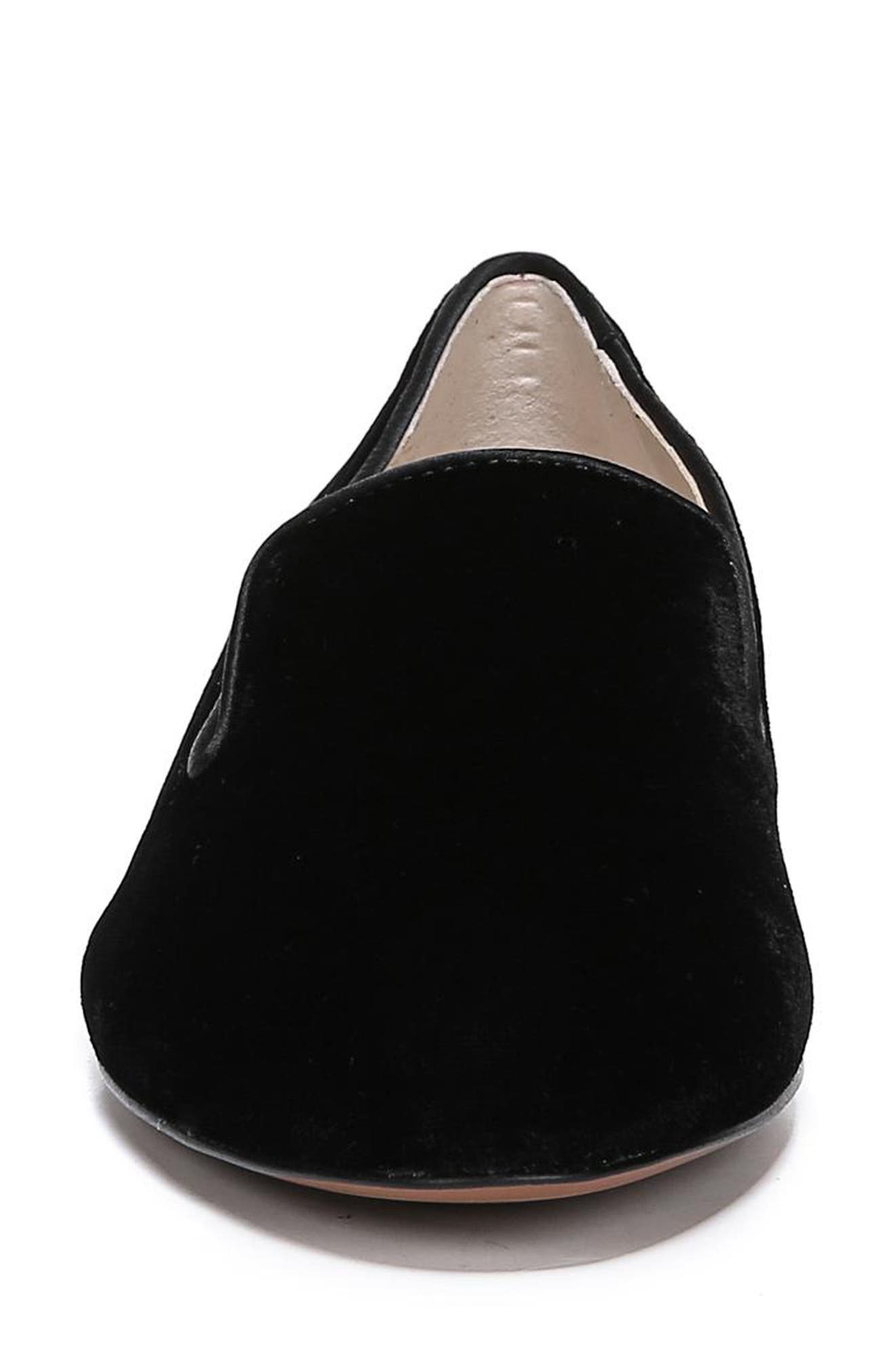 SAM EDELMAN,                             Jordy Flat,                             Alternate thumbnail 4, color,                             BLACK VELVET