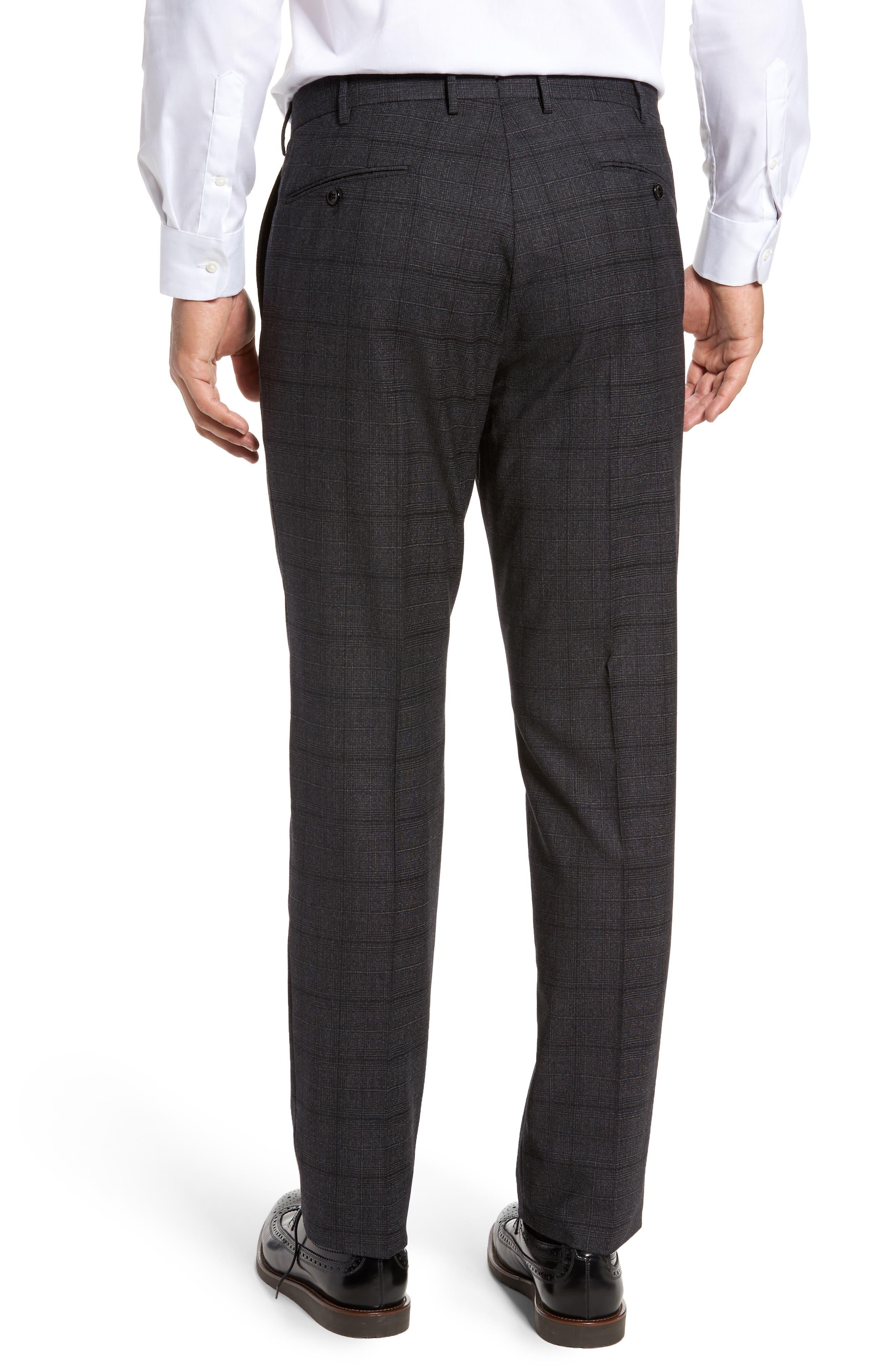 Benson Flat Front Trousers,                             Alternate thumbnail 3, color,                             015