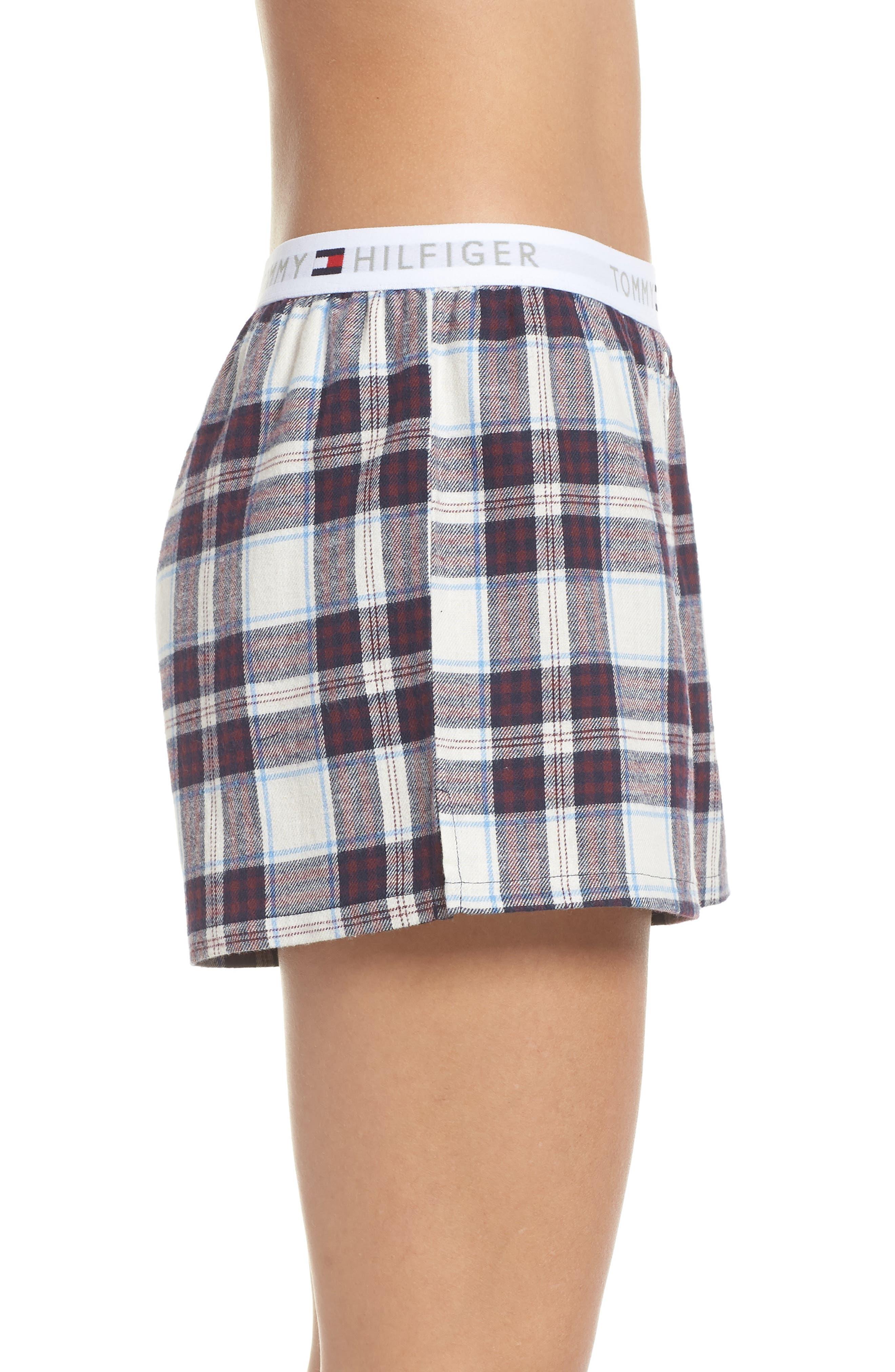 Plaid Pajama Shorts,                             Alternate thumbnail 3, color,                             SWEET DREAMS FIG TARTAN