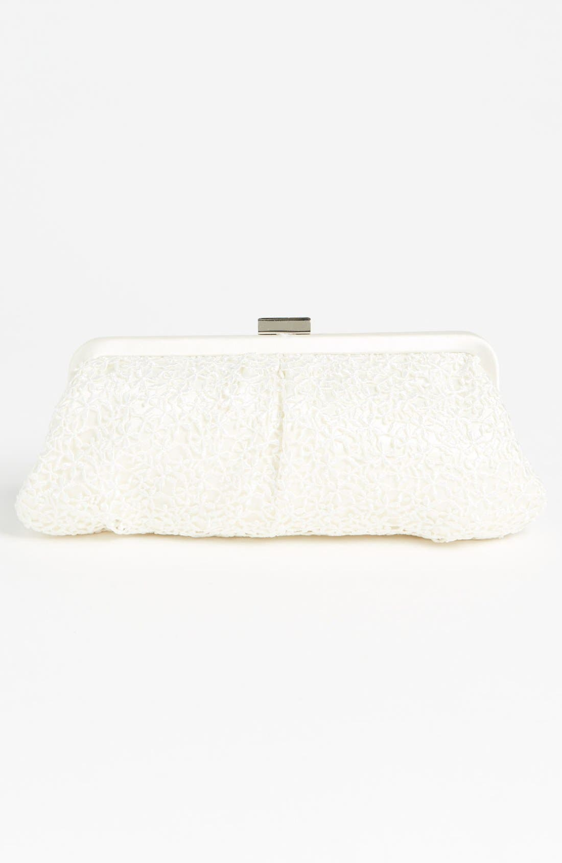 'Crochet Floral' Clutch,                             Alternate thumbnail 3, color,                             108