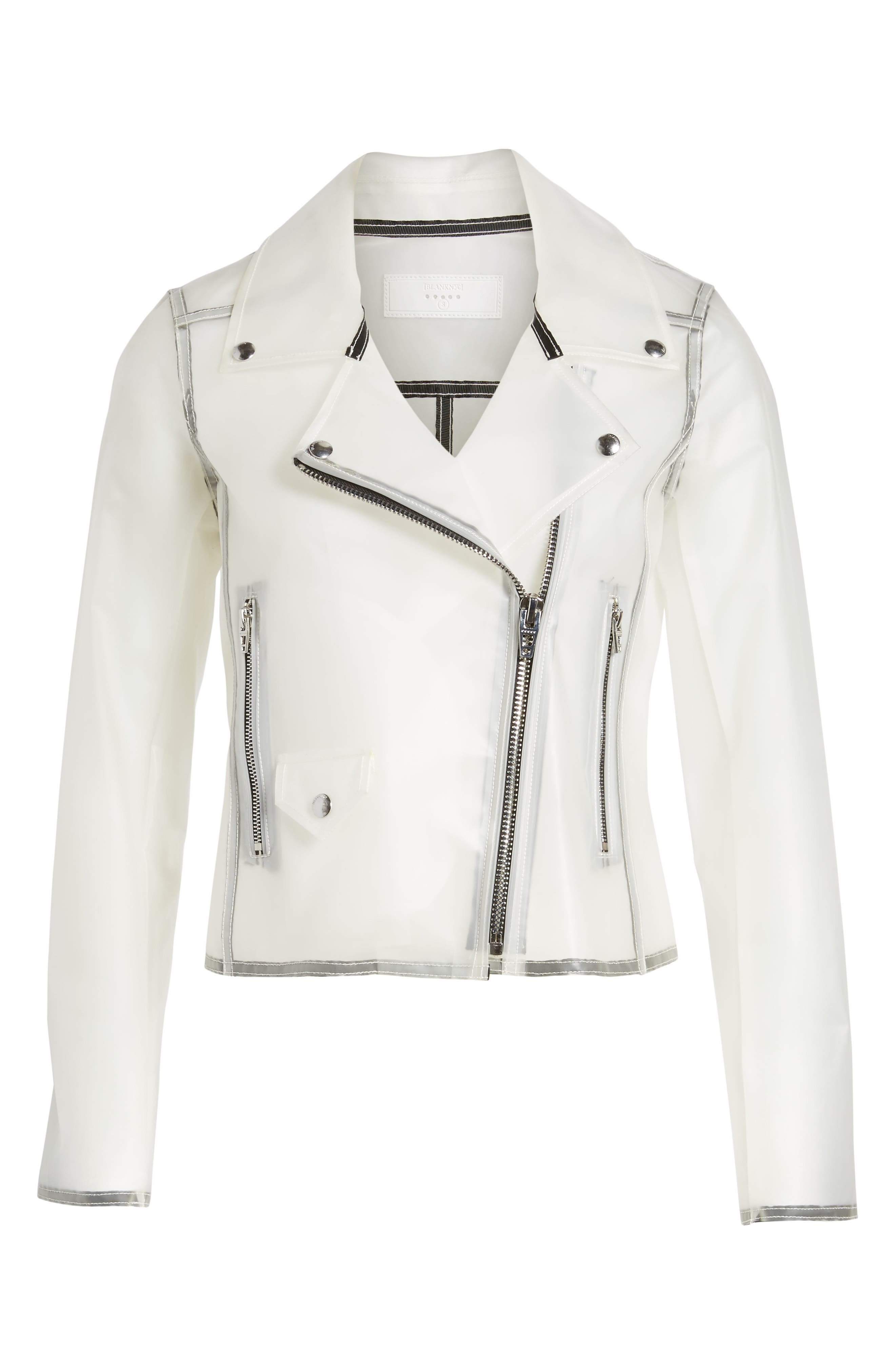 Plastic Moto Jacket,                             Alternate thumbnail 5, color,                             100