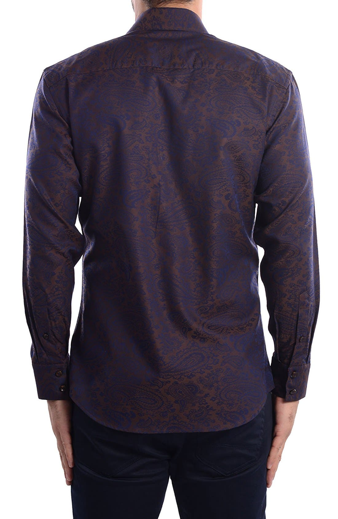 Paisley Modern Fit Sport Shirt,                             Alternate thumbnail 2, color,                             201