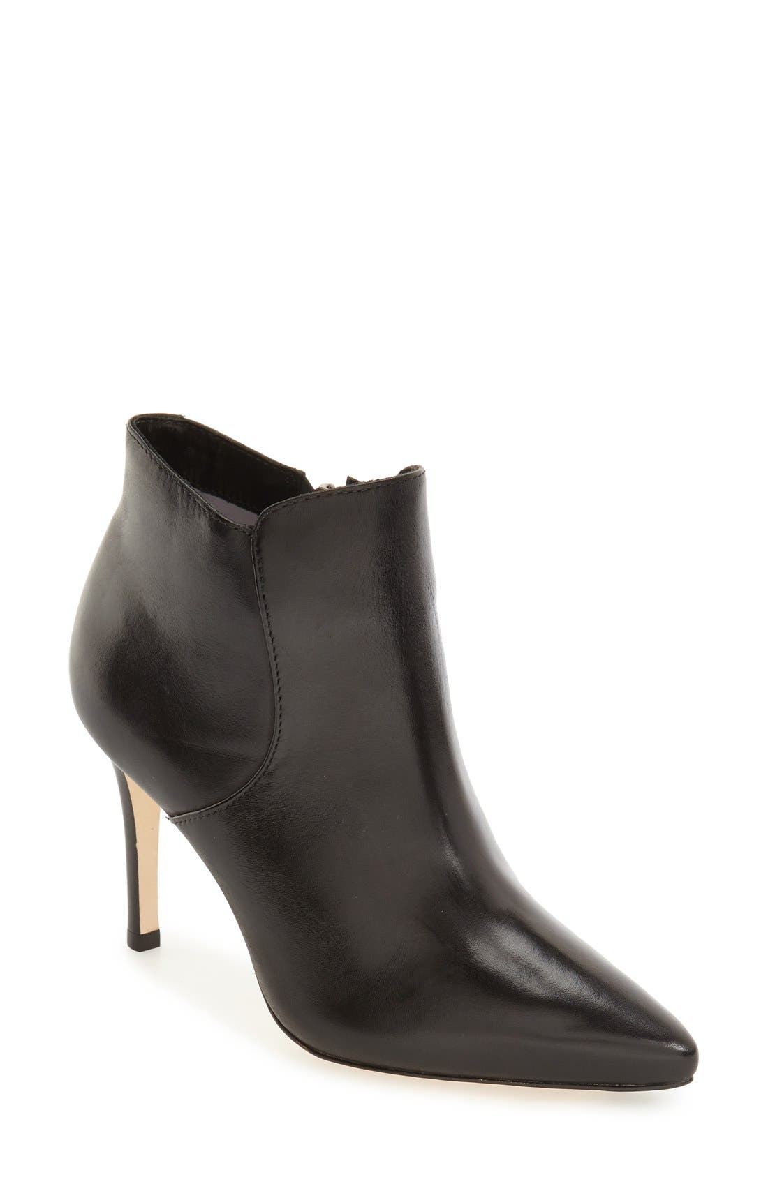 'Valerie' Pointy Toe Bootie,                             Main thumbnail 1, color,                             001