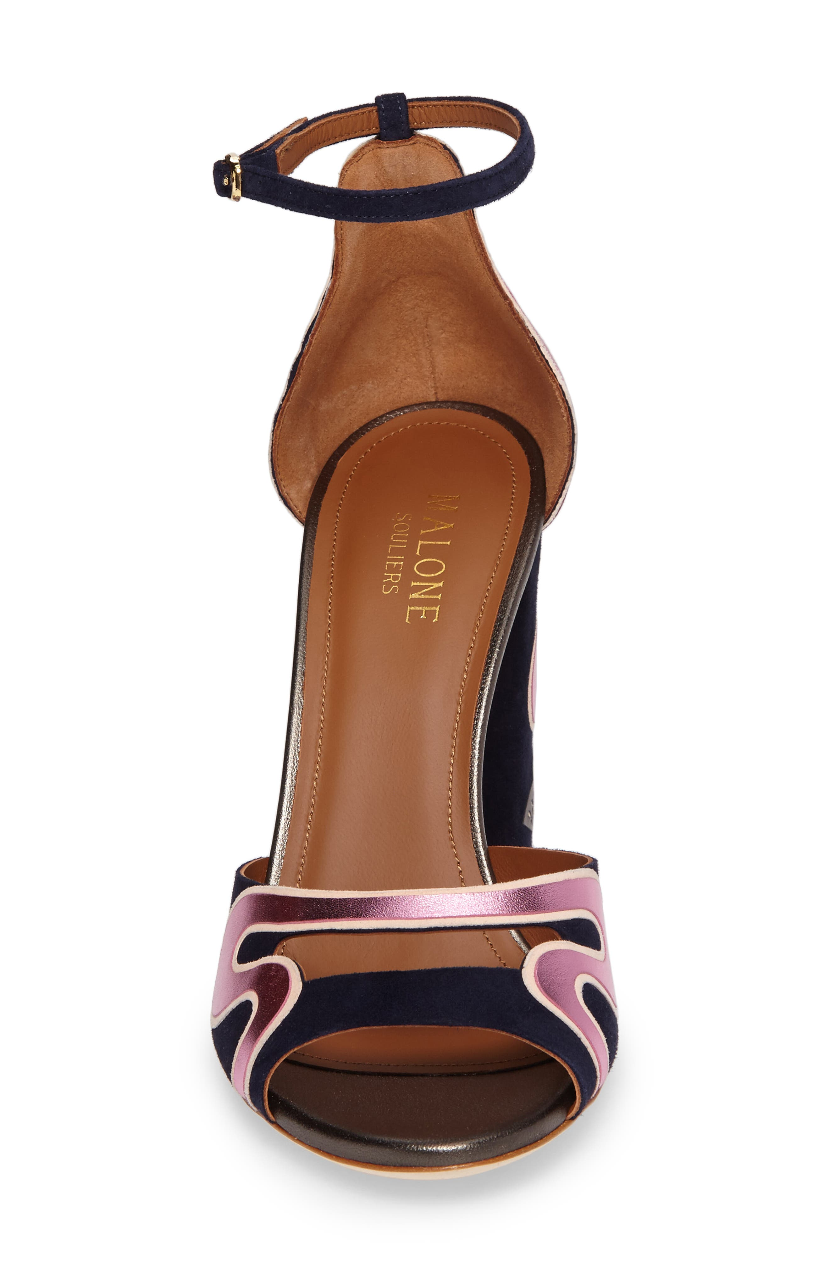 Nina Chunky Heel Sandal,                             Alternate thumbnail 4, color,                             400