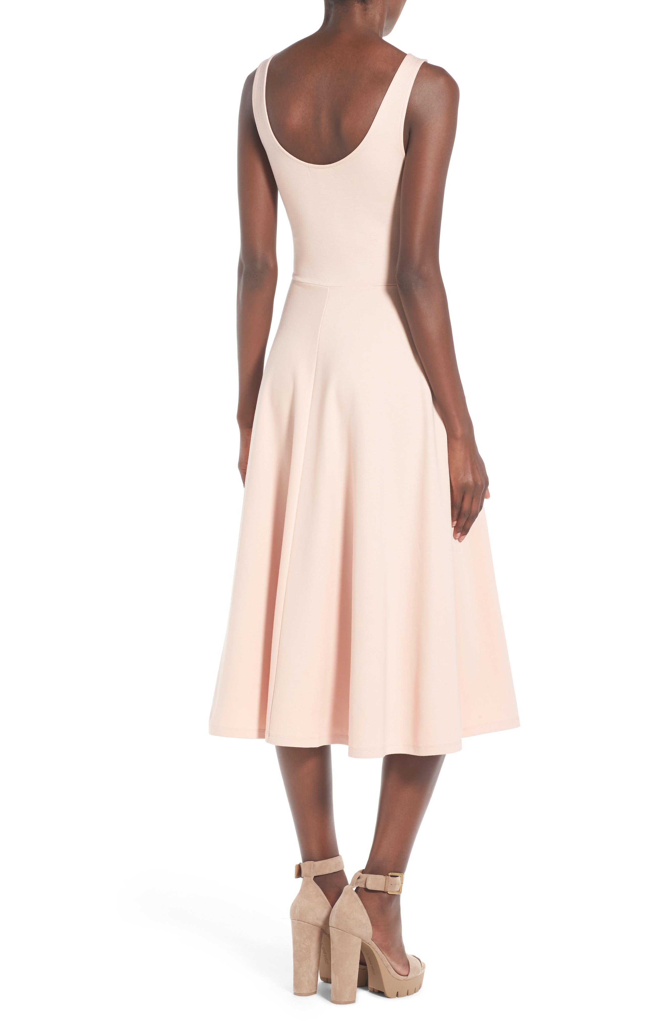 Stretch Knit Midi Dress,                             Alternate thumbnail 32, color,