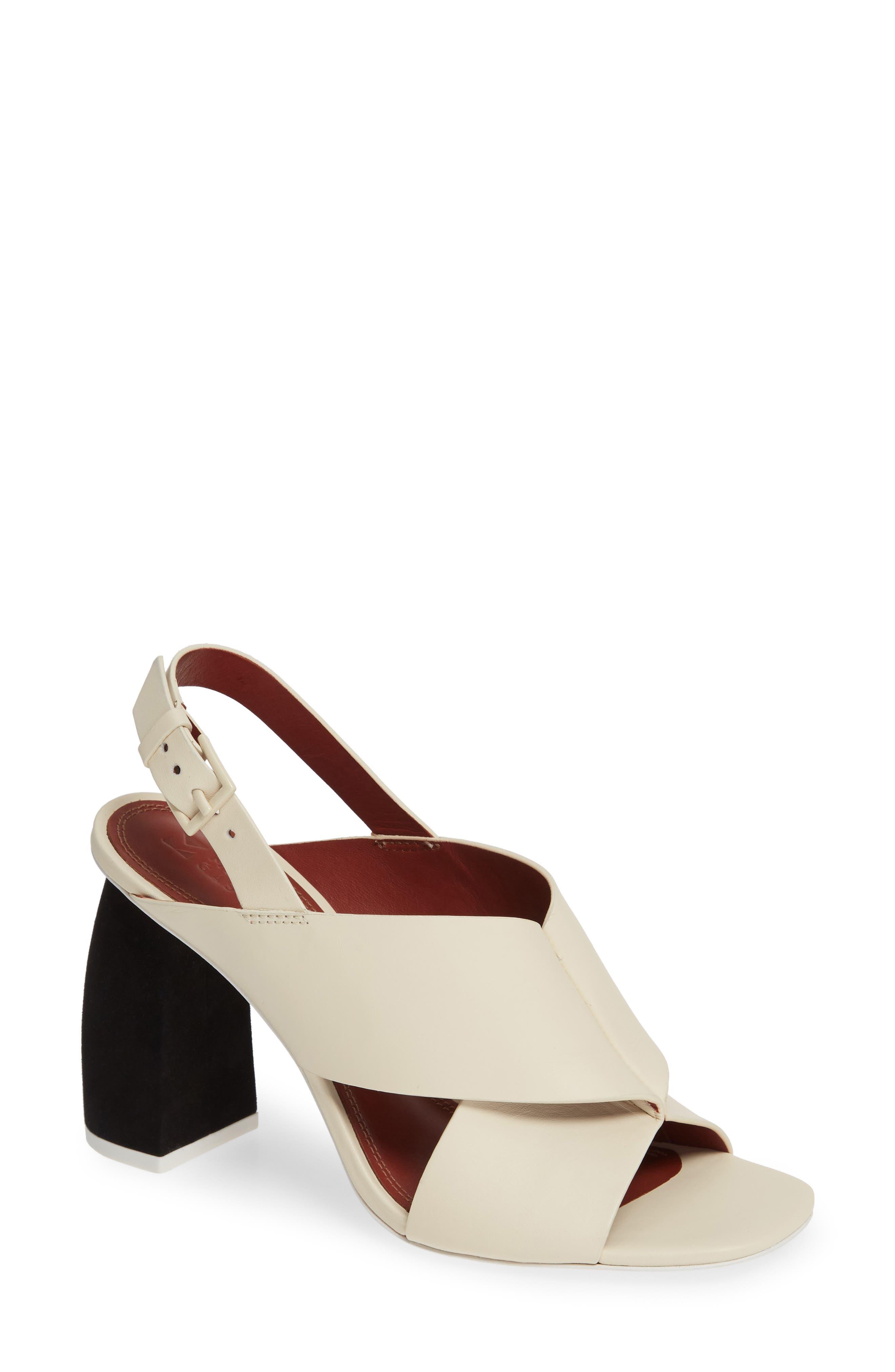Mercedes Castillo Hae Slingback Sandal, Ivory
