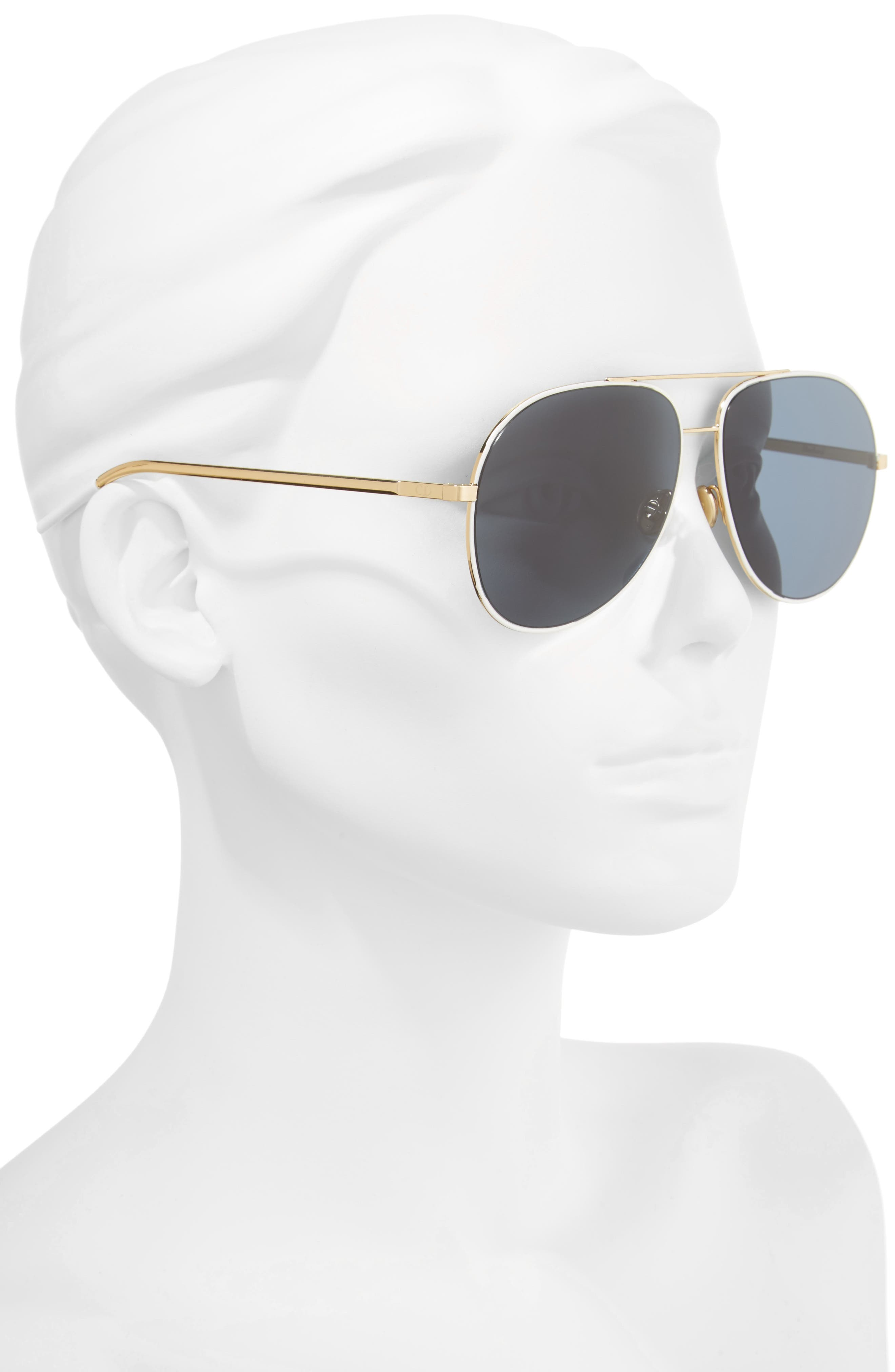 Astrals 59mm Aviator Sunglasses,                             Alternate thumbnail 7, color,