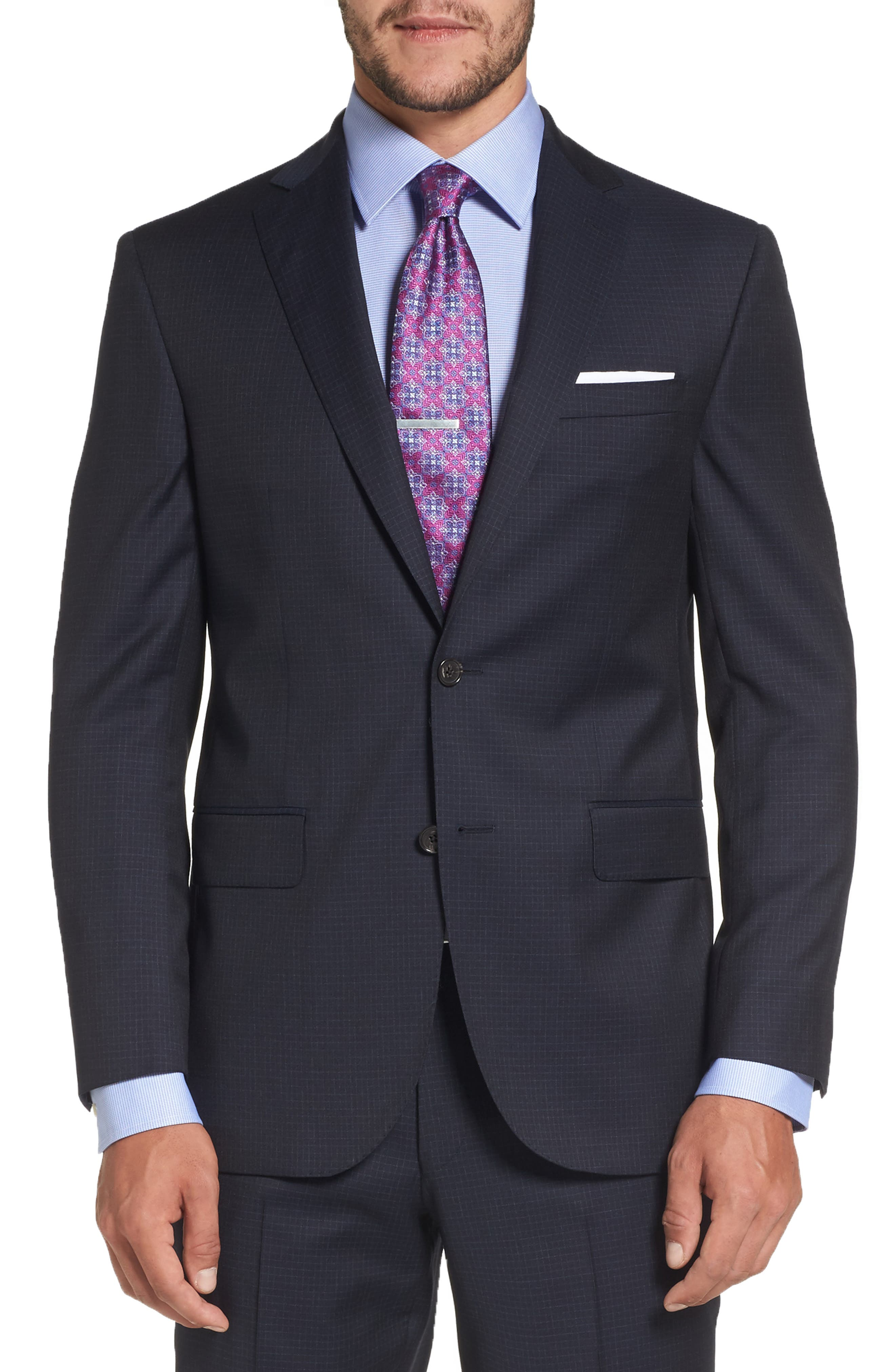 Ryan Classic Fit Check Wool Suit,                             Alternate thumbnail 5, color,                             410