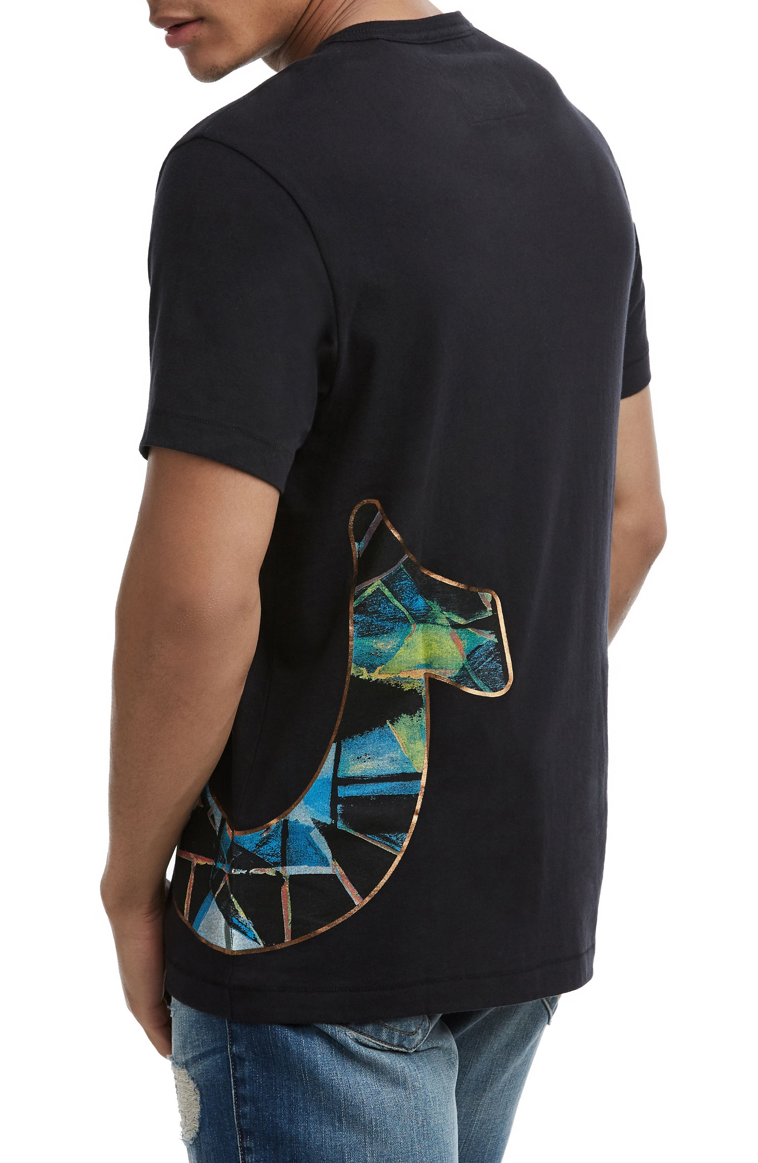 Stained Glass Logo T-Shirt,                             Alternate thumbnail 2, color,                             TRUE BLACK