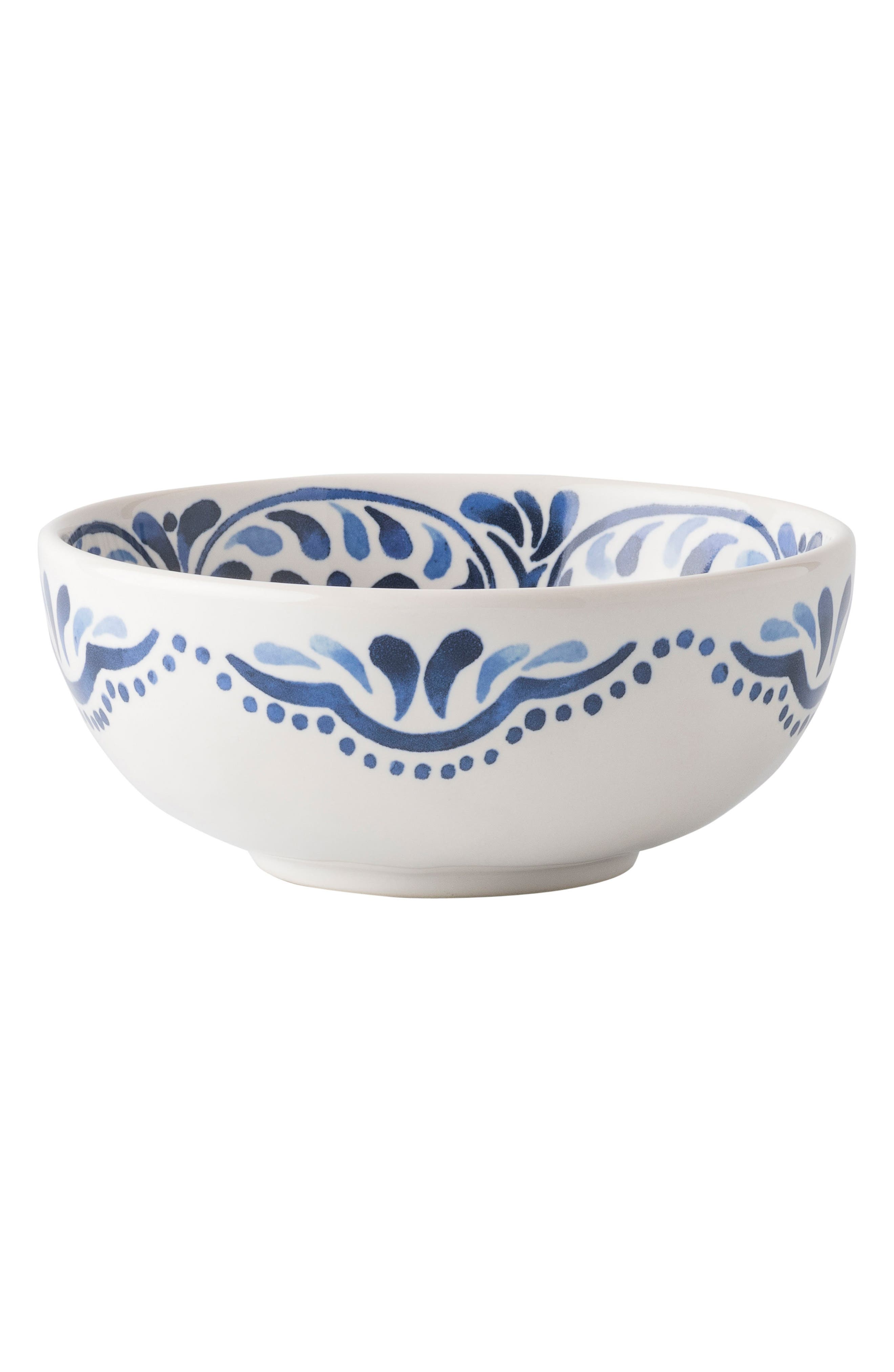 Wanderlust Collection - Iberian Journey Ceramic Cereal Bowl,                             Main thumbnail 1, color,                             INDIGO