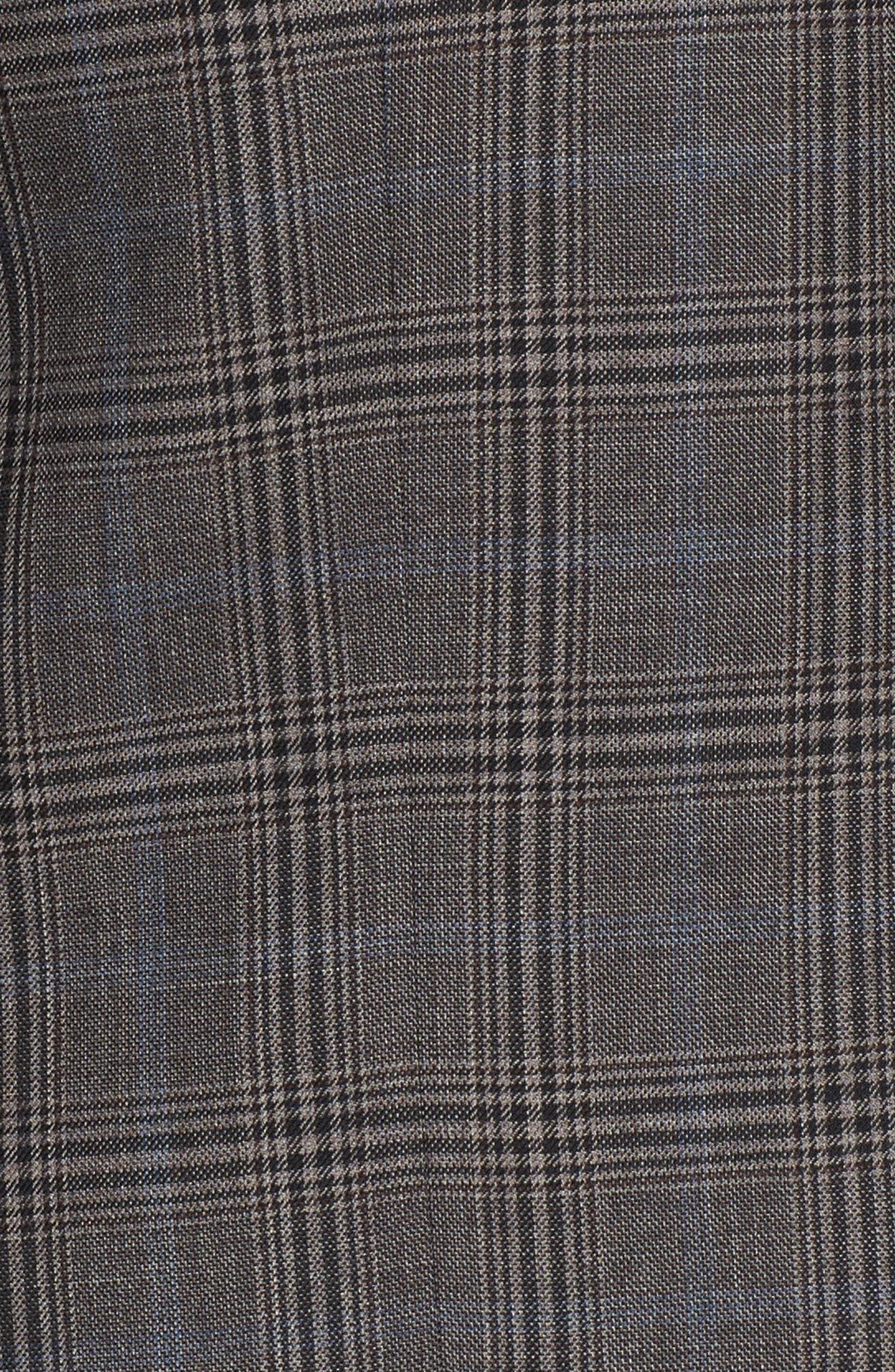 Classic Fit Plaid Stretch Wool Sport Coat,                             Alternate thumbnail 6, color,                             030