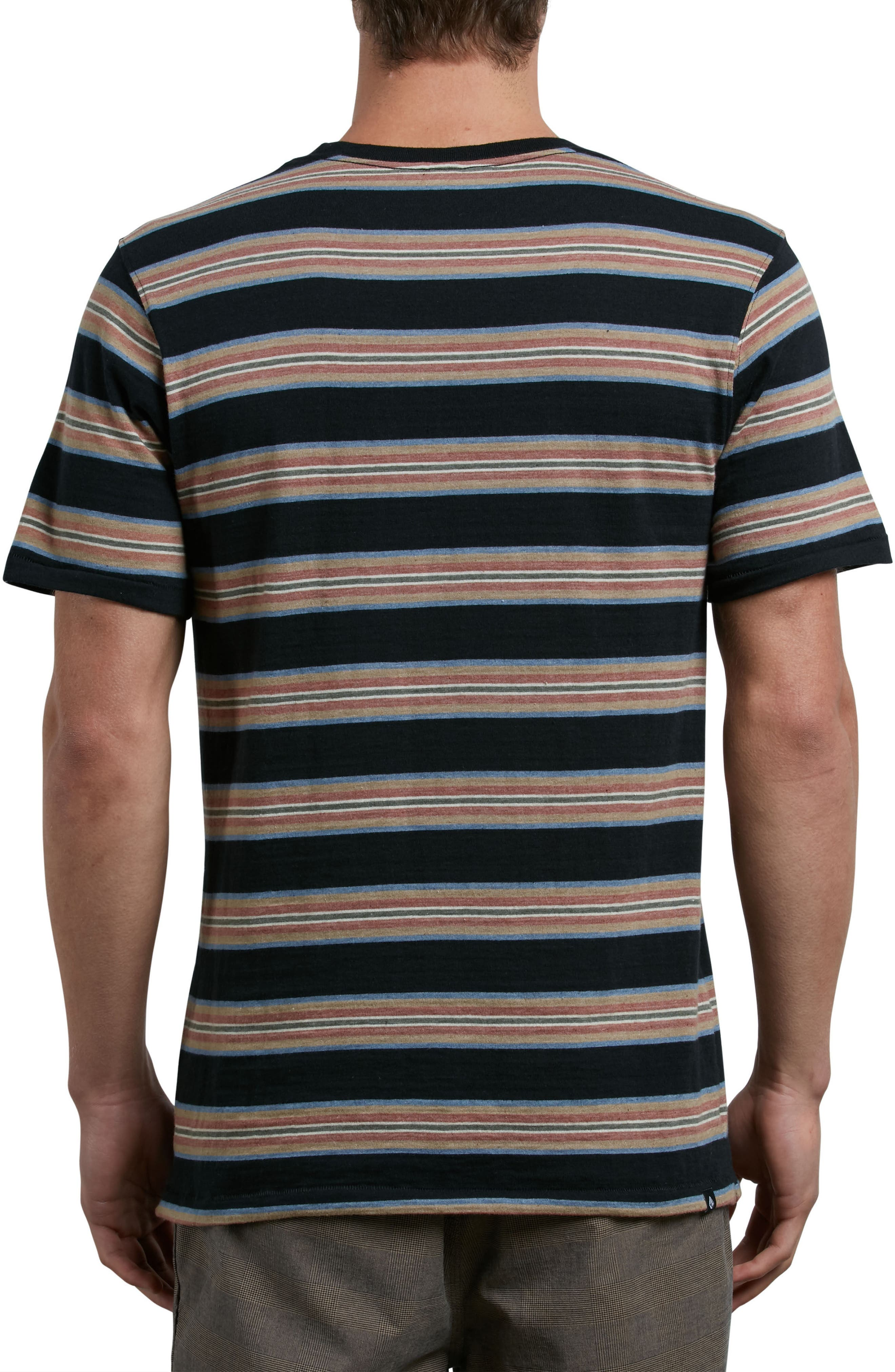 Belfast Stripe Pocket T-Shirt,                             Alternate thumbnail 2, color,                             001