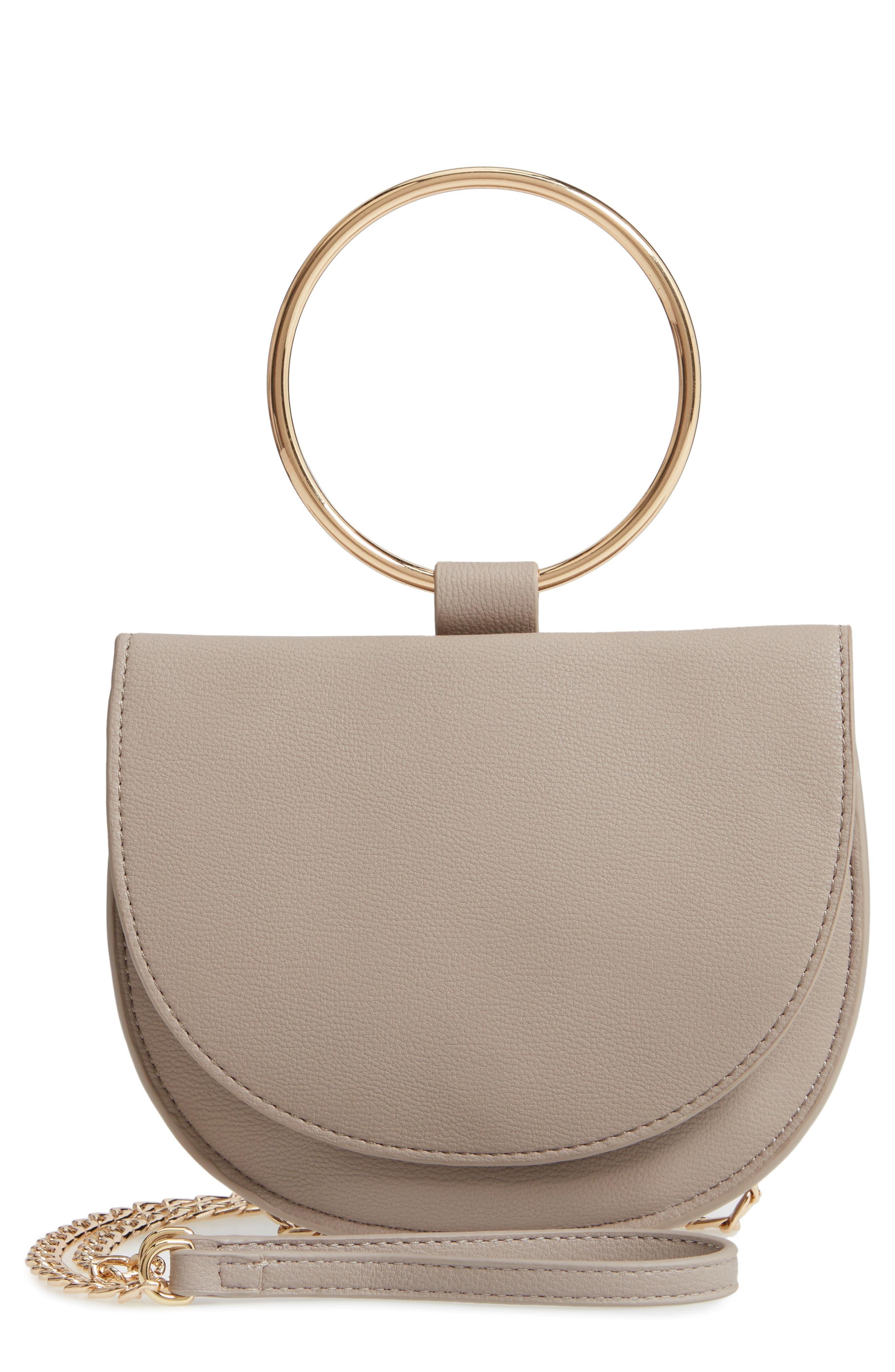Reese Ring Crossbody Bag,                         Main,                         color, GREY FLINT