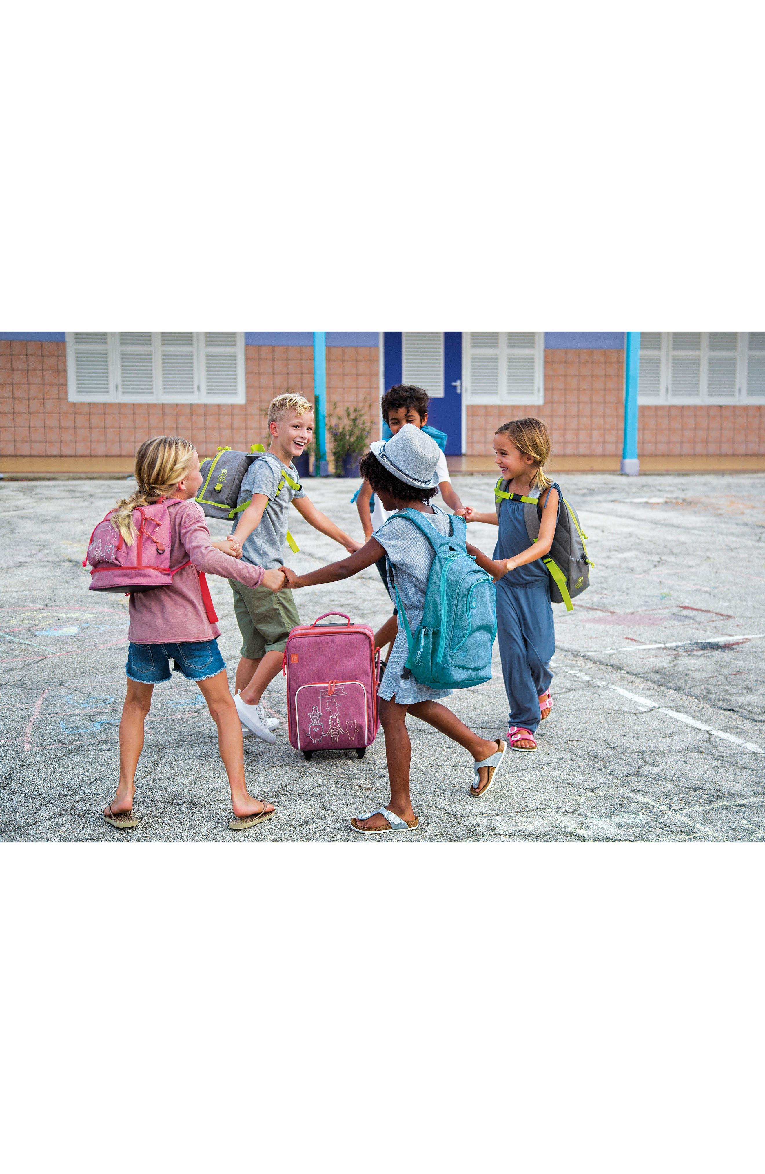 About Friends Rolling Suitcase,                             Alternate thumbnail 5, color,                             MELANGE PINK