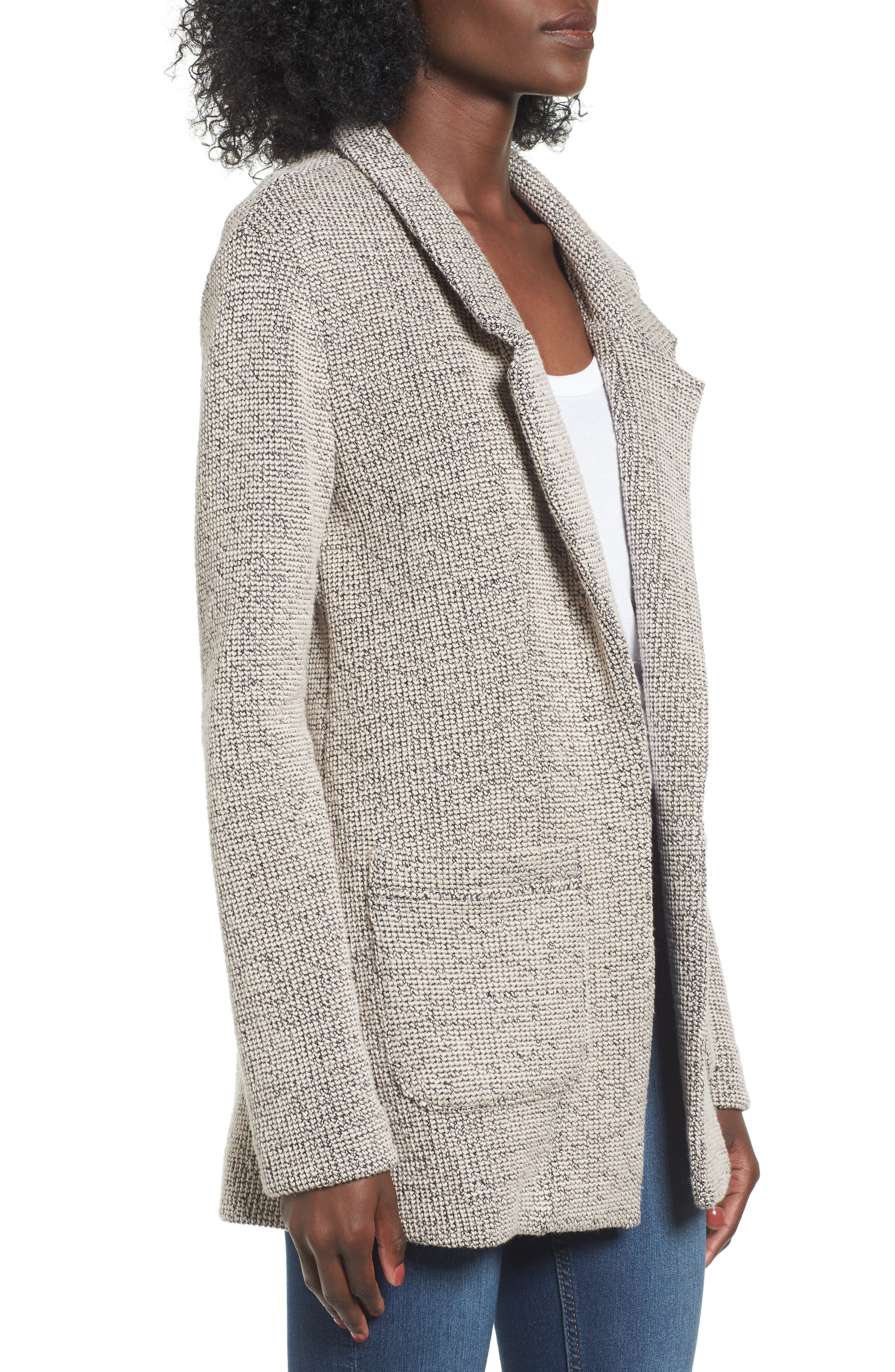 Tweed Blazer,                             Alternate thumbnail 3, color,                             250