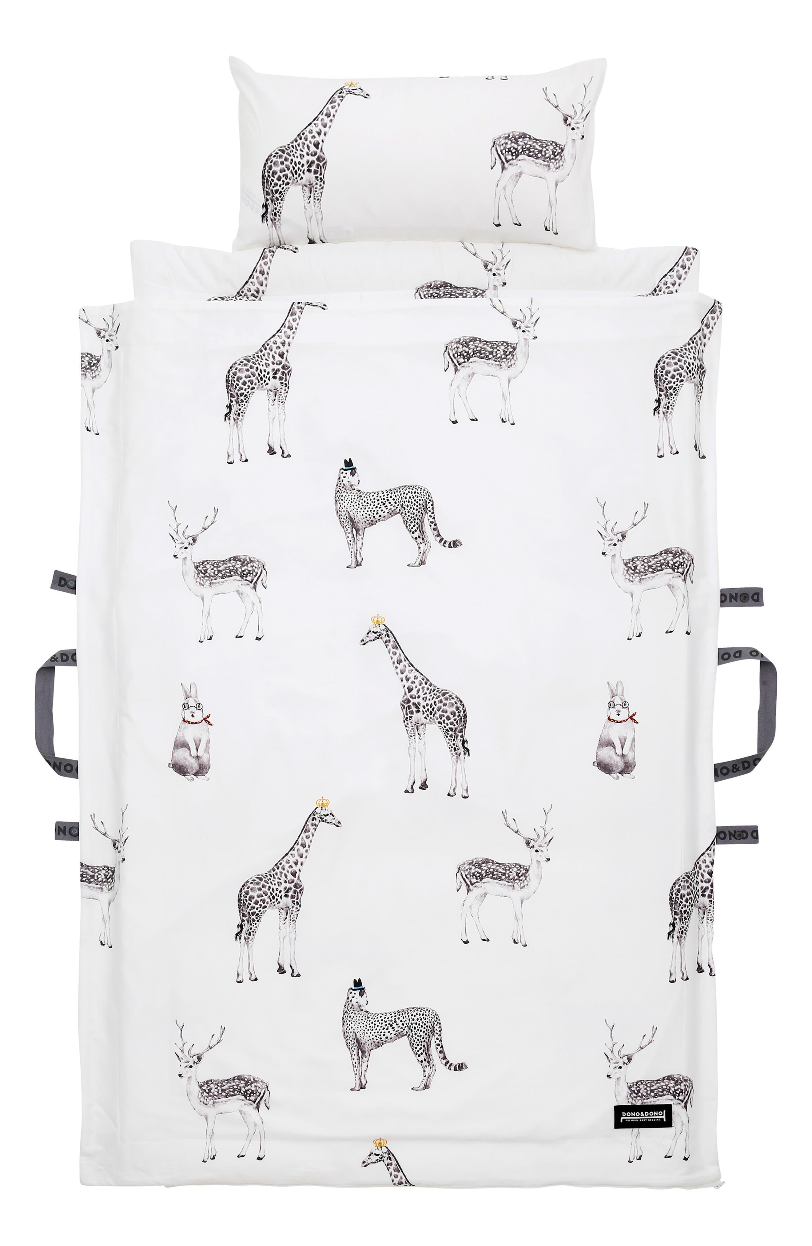 Nap Mat & Toddler Pillow Set, Main, color, RETRO ANIMAL