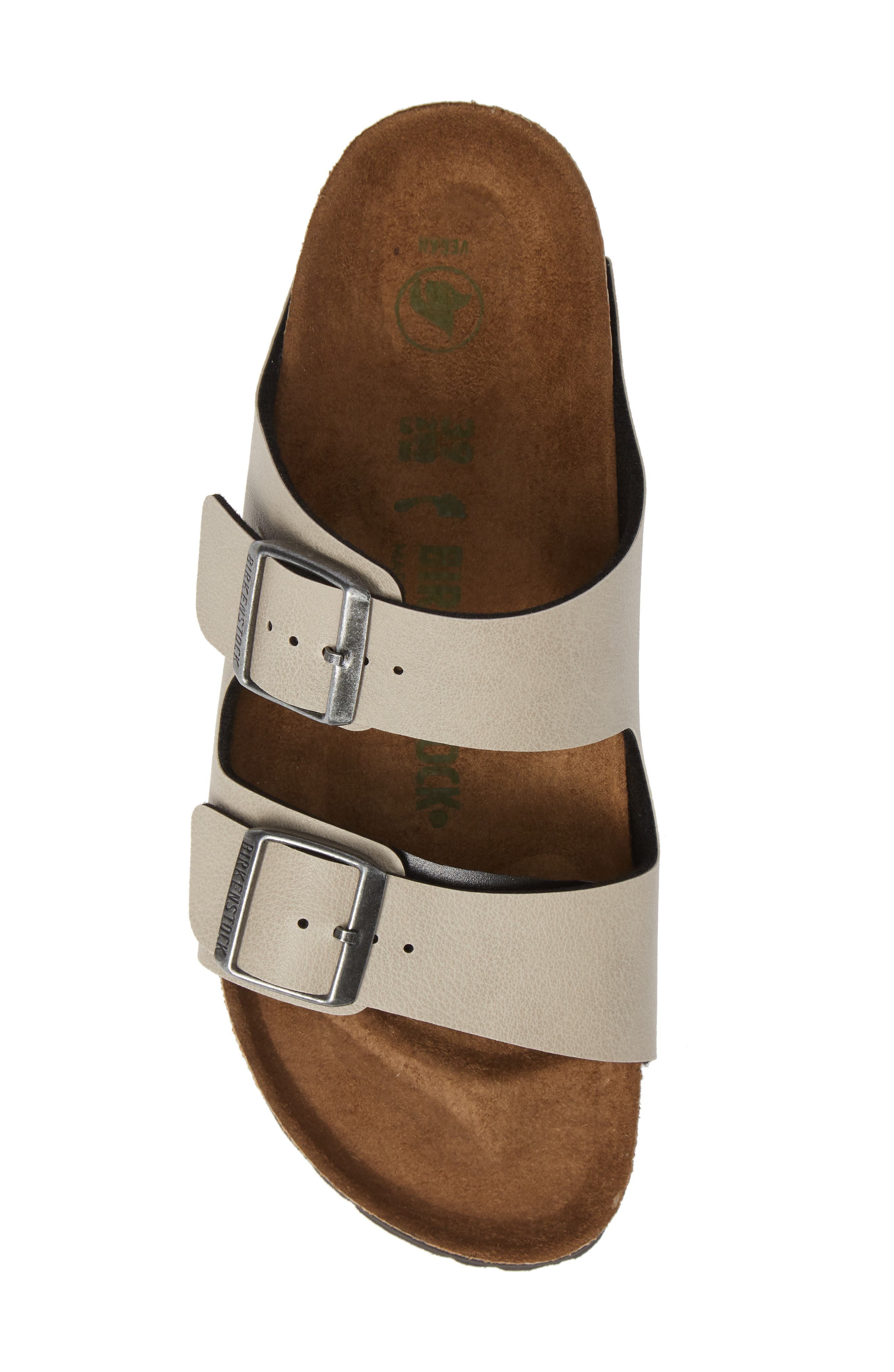 Arizona Birko-Flor<sup>™</sup> Slide Sandal,                             Alternate thumbnail 5, color,                             PULL UP STONE FAUX LEATHER
