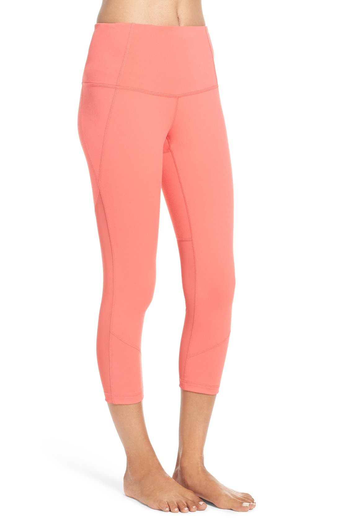'Live In - Sultry' High Waist Mesh Crop Leggings,                             Alternate thumbnail 33, color,