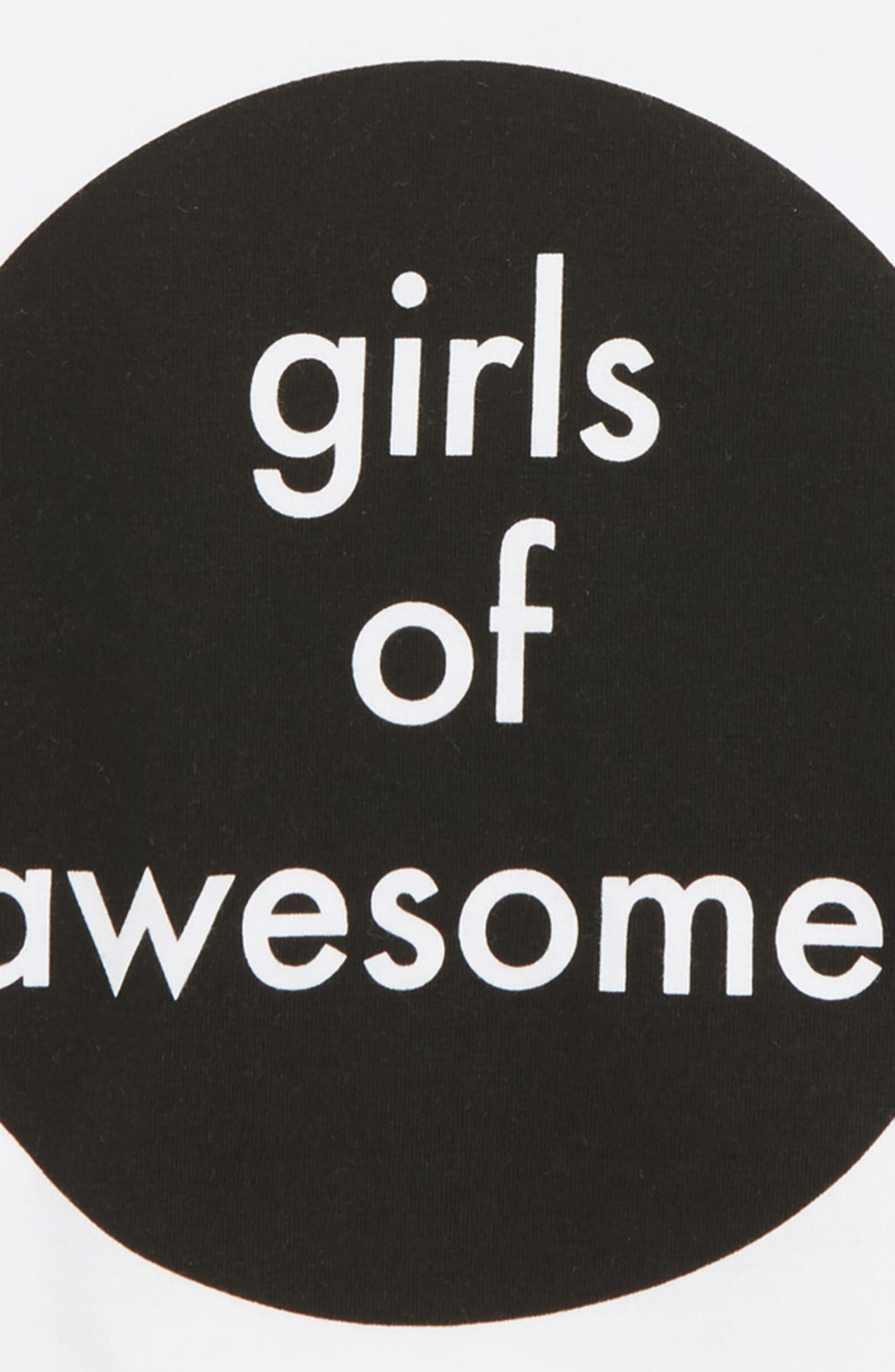 Awesome Girls Tee,                             Alternate thumbnail 2, color,                             WHITE / BLACK