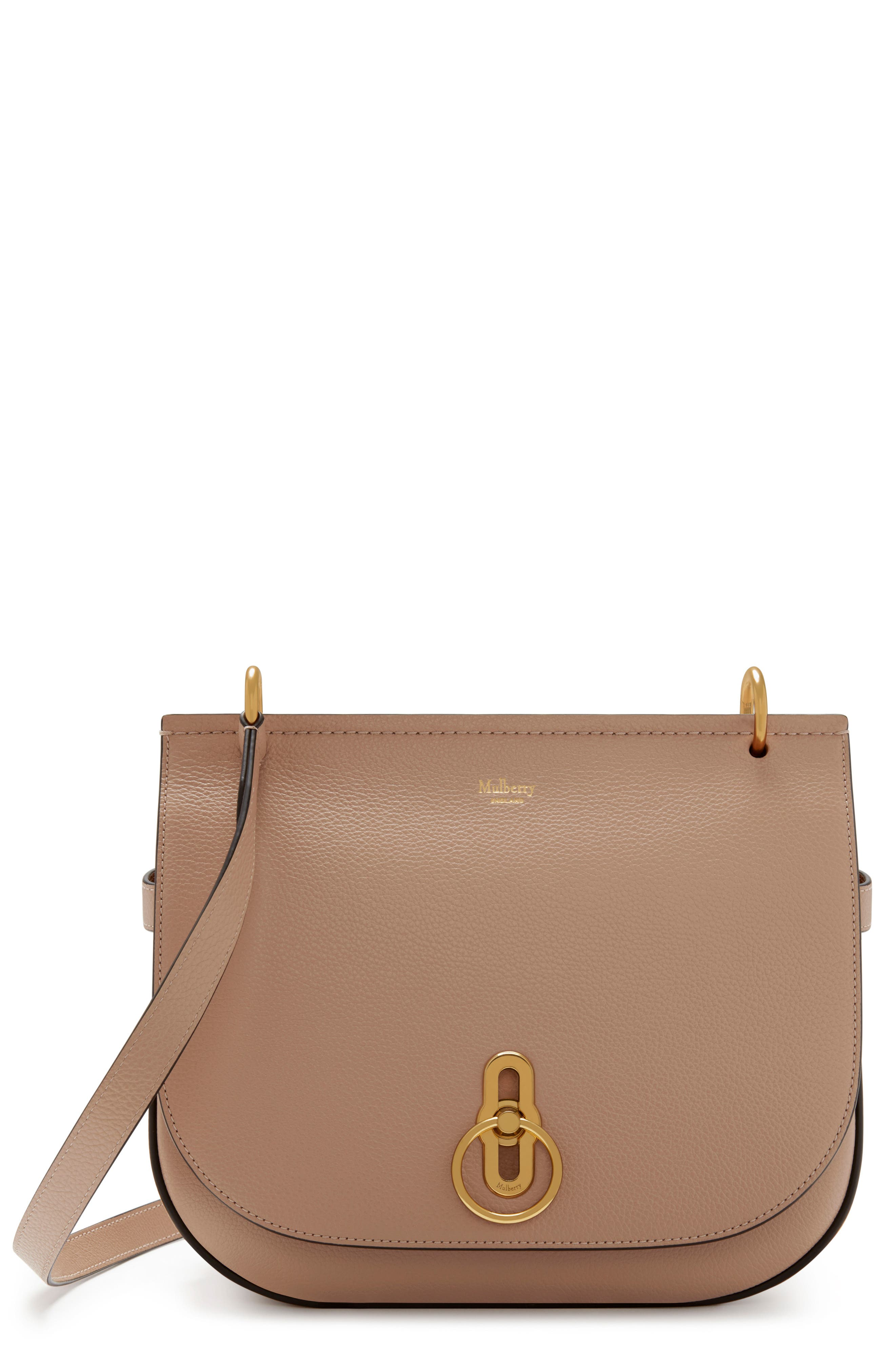 Amberley Leather Crossbody Bag, Main, color, ROSEWATER