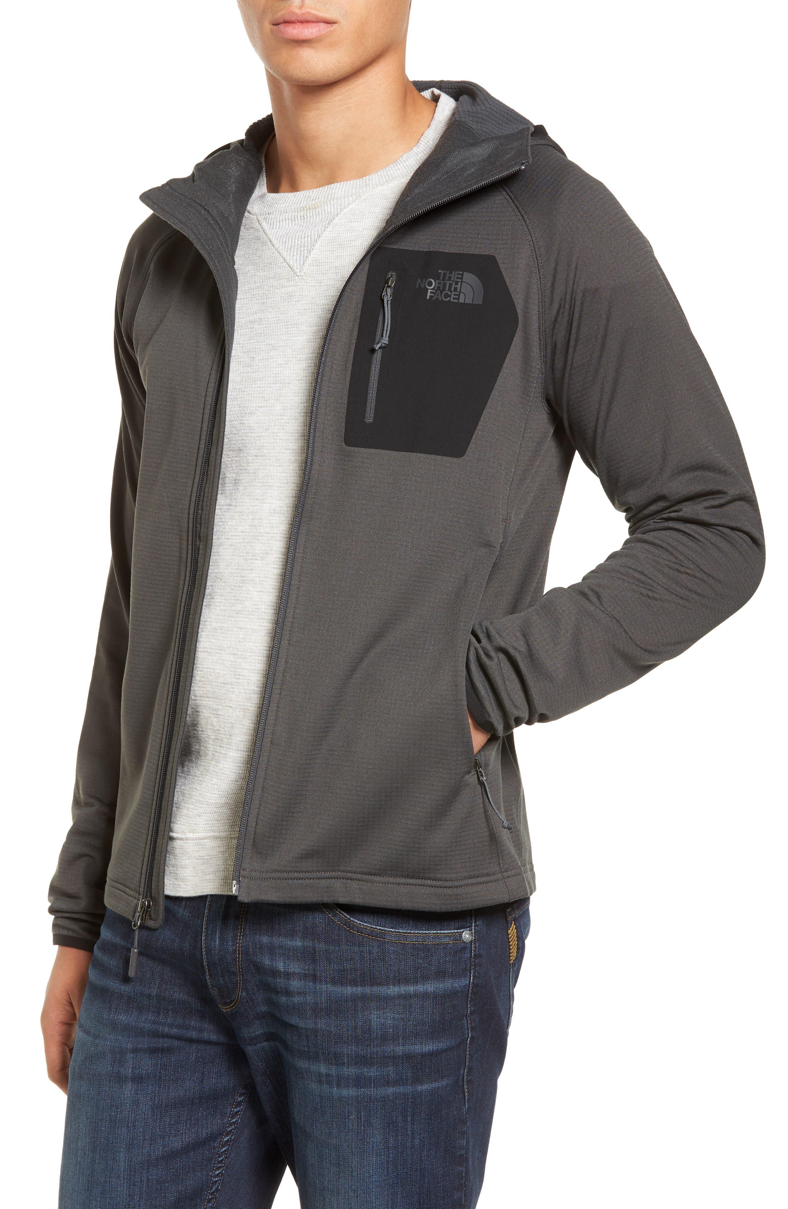 The North Face Borod Zip Fleece Jacket, Grey
