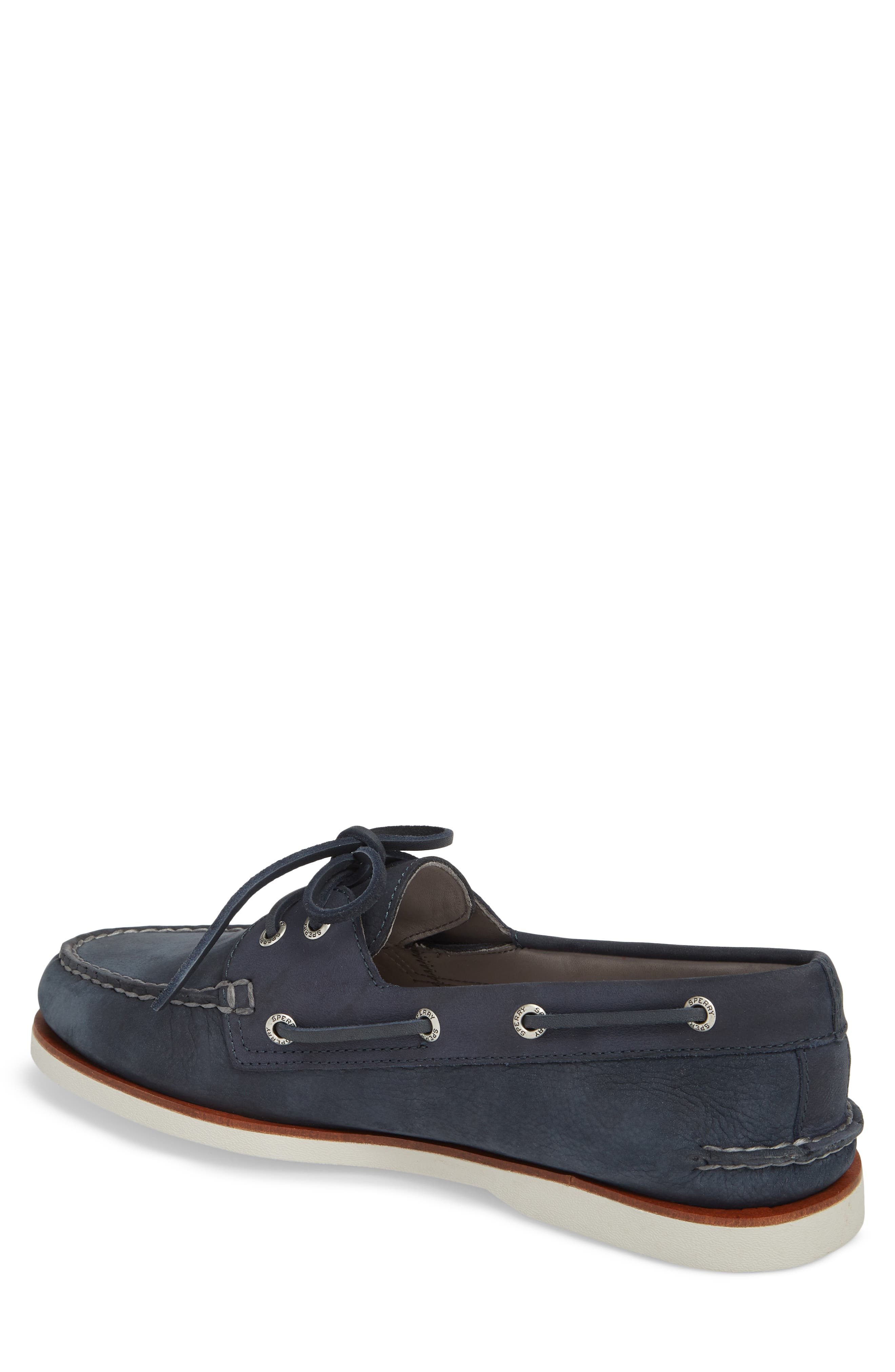 'Gold Cup - Authentic Original' Boat Shoe,                             Alternate thumbnail 2, color,                             BLUE/ NAVY LEATHER