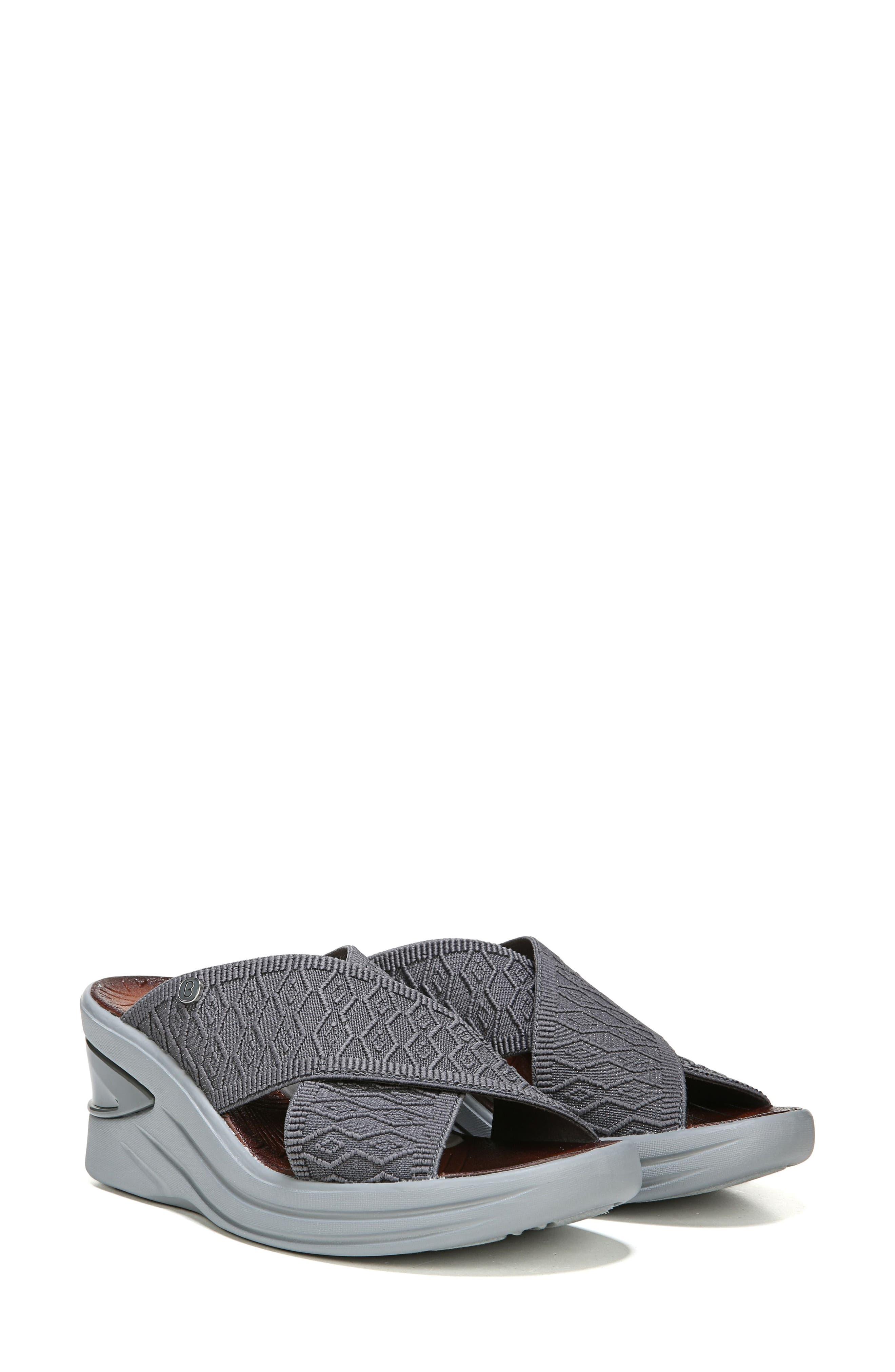 Vista Slide Sandal,                             Alternate thumbnail 8, color,                             PEWTER FABRIC