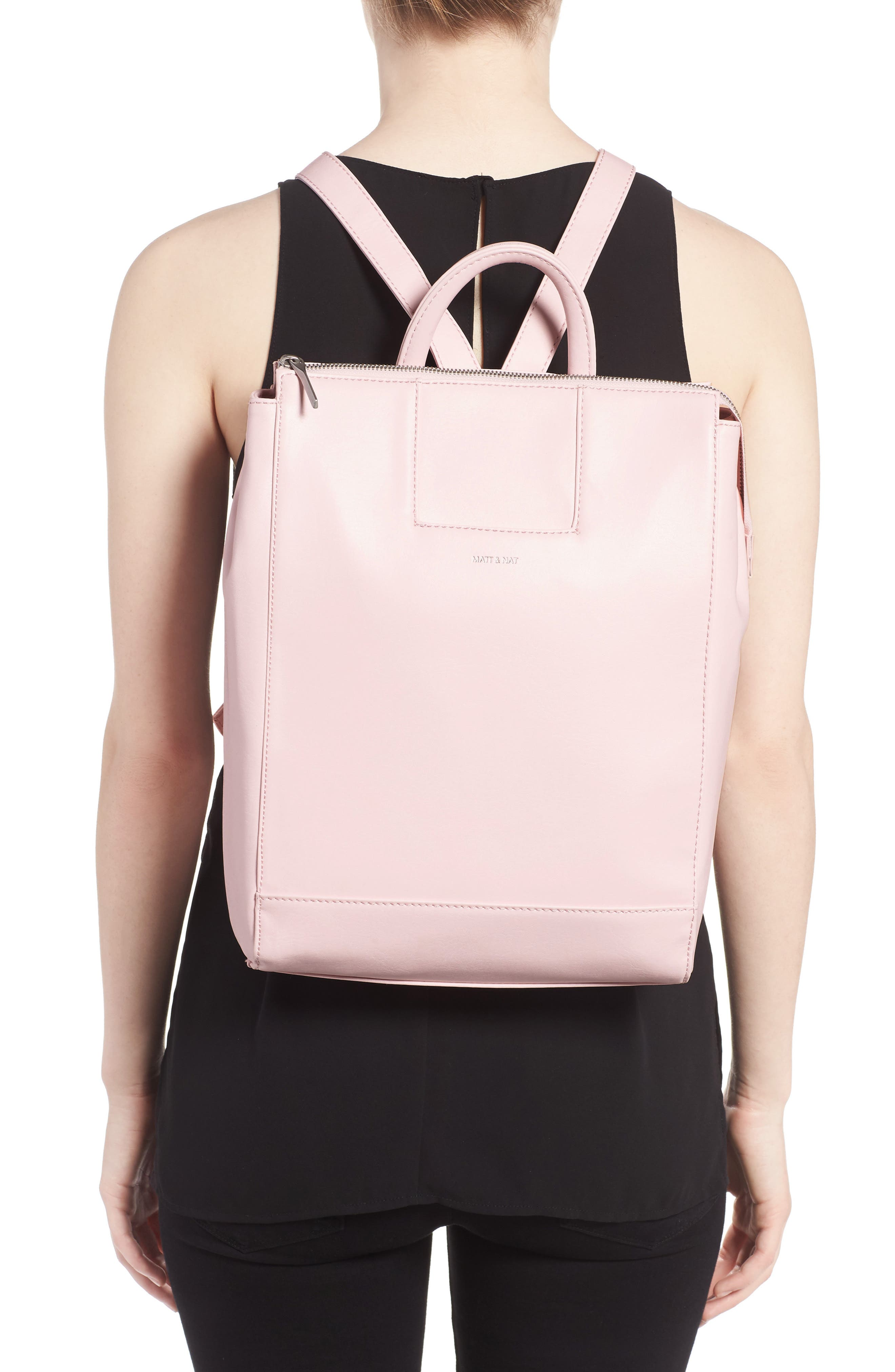 'Katherine' Faux Leather Backpack,                             Alternate thumbnail 14, color,