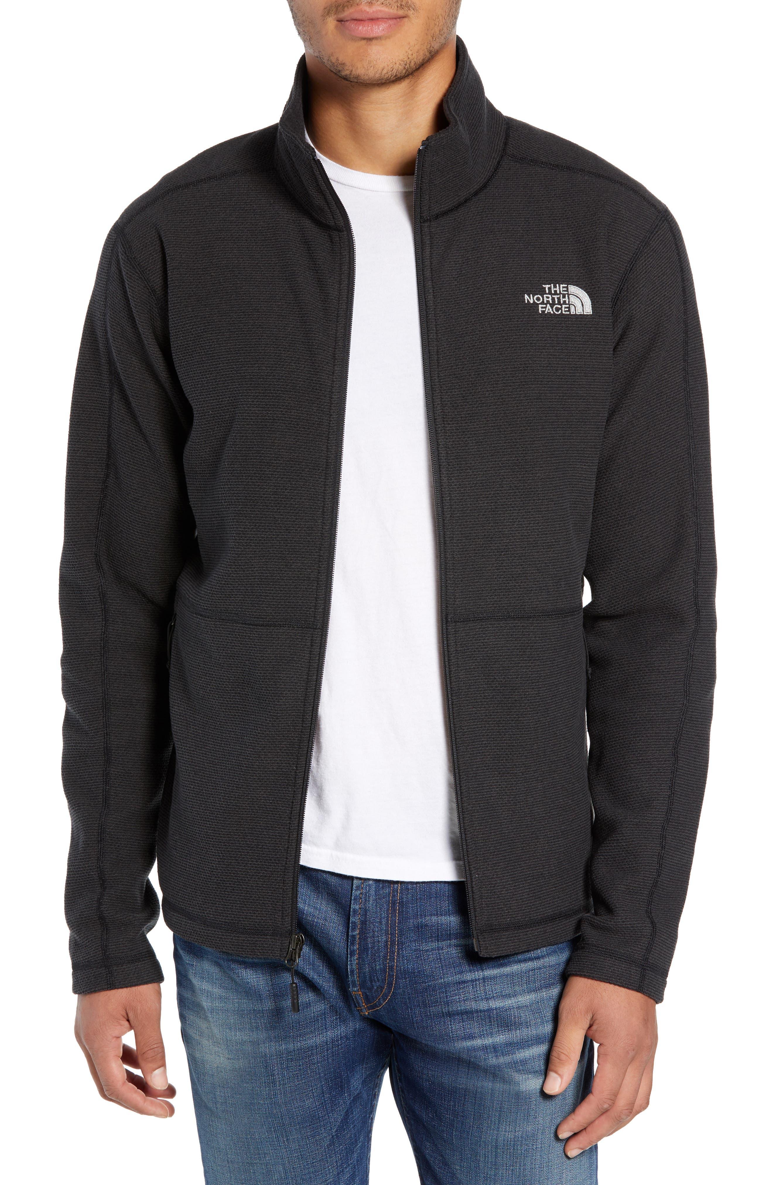 Texture Cap Rock Fleece Jacket,                         Main,                         color, TNF BLACK