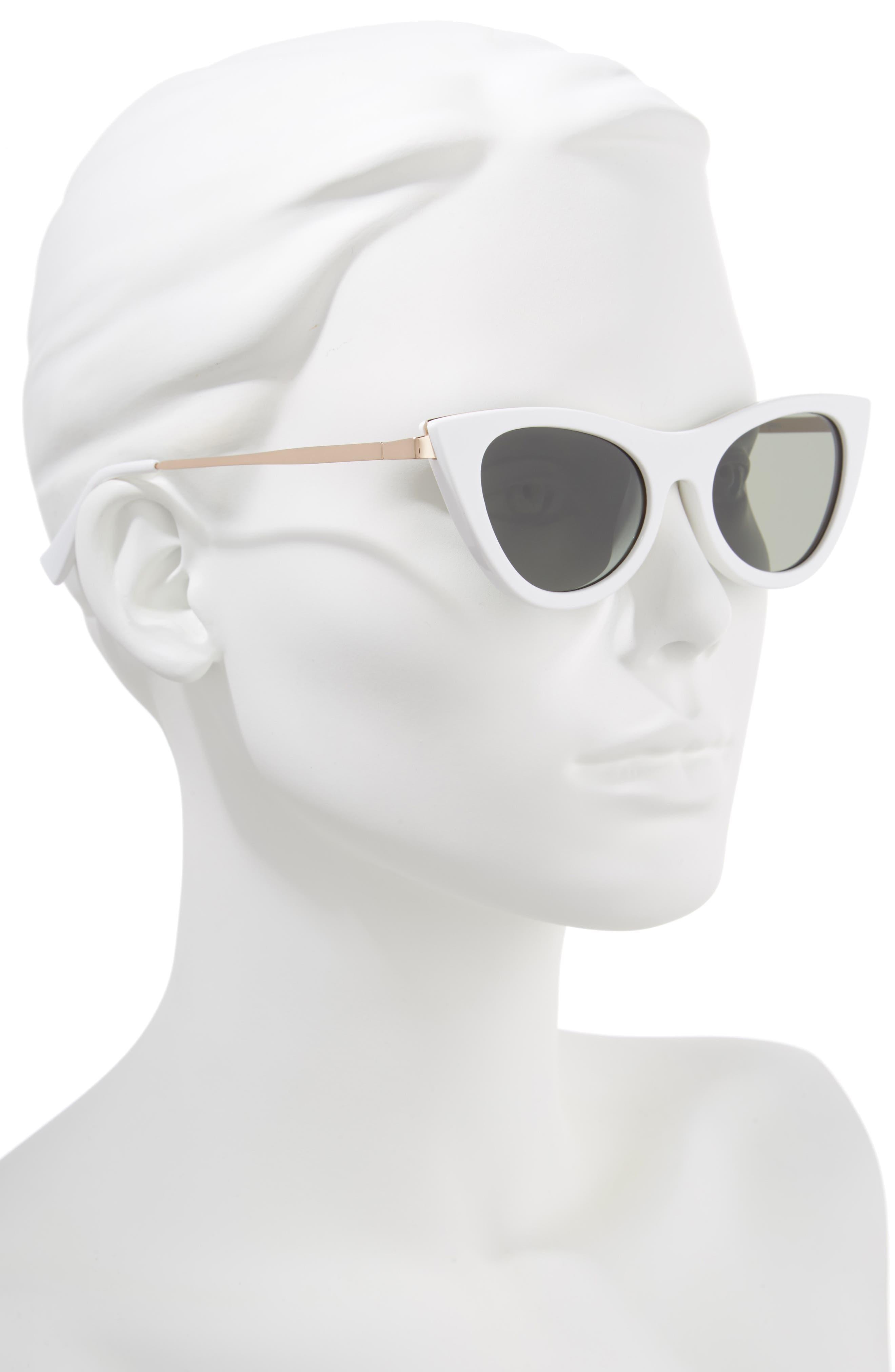 LE SPECS,                             Enchantress 50mm Cat Eye Sunglasses,                             Alternate thumbnail 2, color,                             100